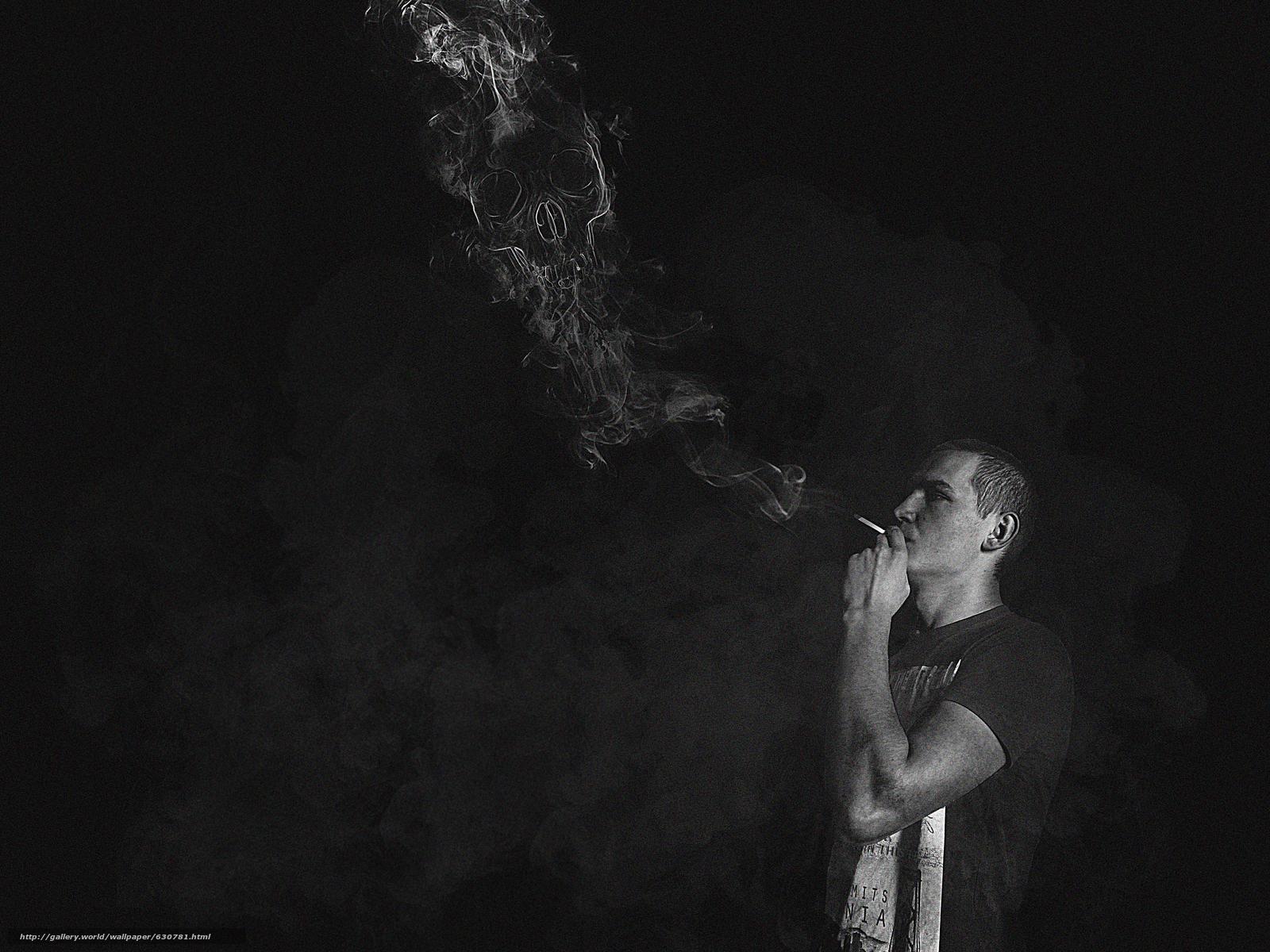 Скачать обои Сигареты,  Дым,  Скука,  Парень бесплатно для рабочего стола в разрешении 4000x3000 — картинка №630781