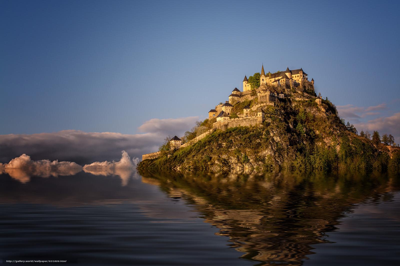 scaricare gli sfondi Castello di Hochosterwitz,  Carinzia,  Austria,  Castello di Hochosterwitz Sfondi gratis per la risoluzione del desktop 2048x1365 — immagine №631809