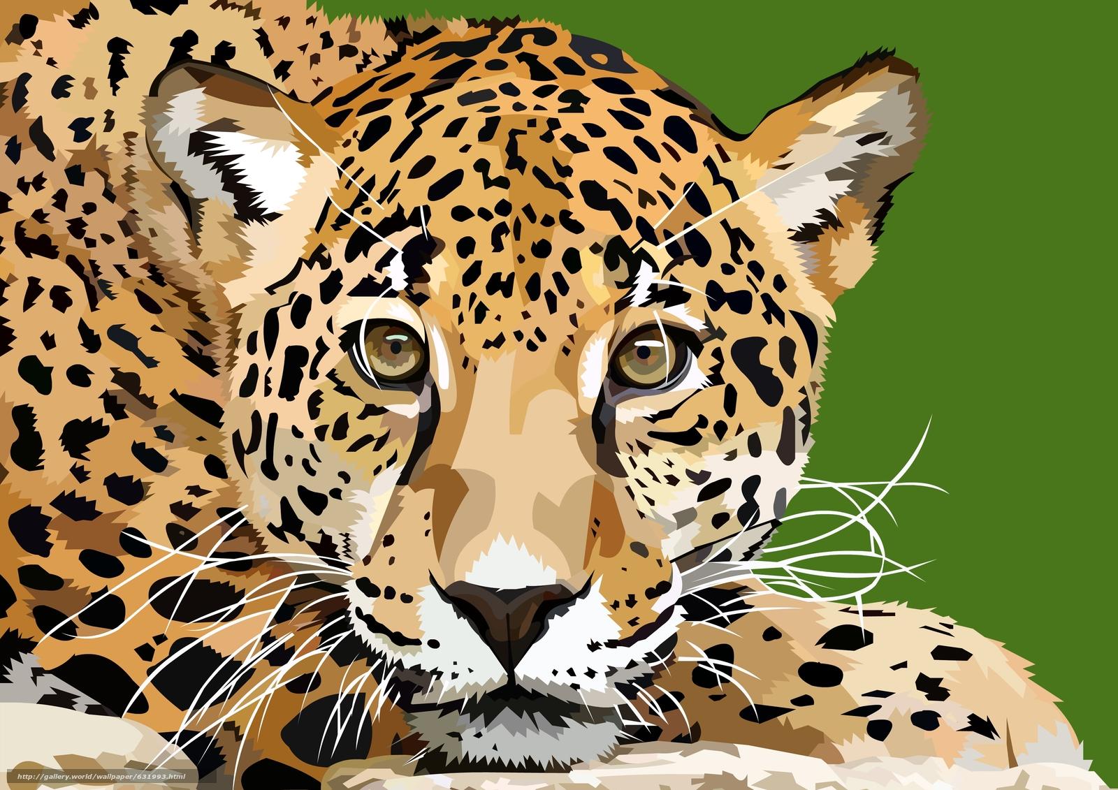 Descargar gratis leopardo,  vector,  arte Fondos de escritorio en la resolucin 3508x2480 — imagen №631993