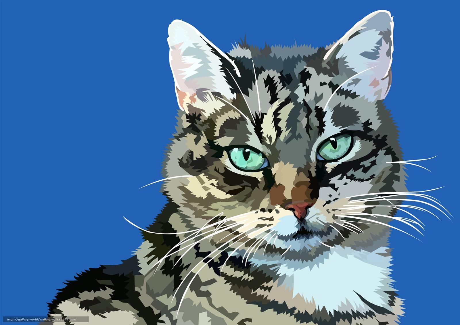 Descargar gratis COTE,  gato,  vector,  arte Fondos de escritorio en la resolucin 3508x2480 — imagen №631996