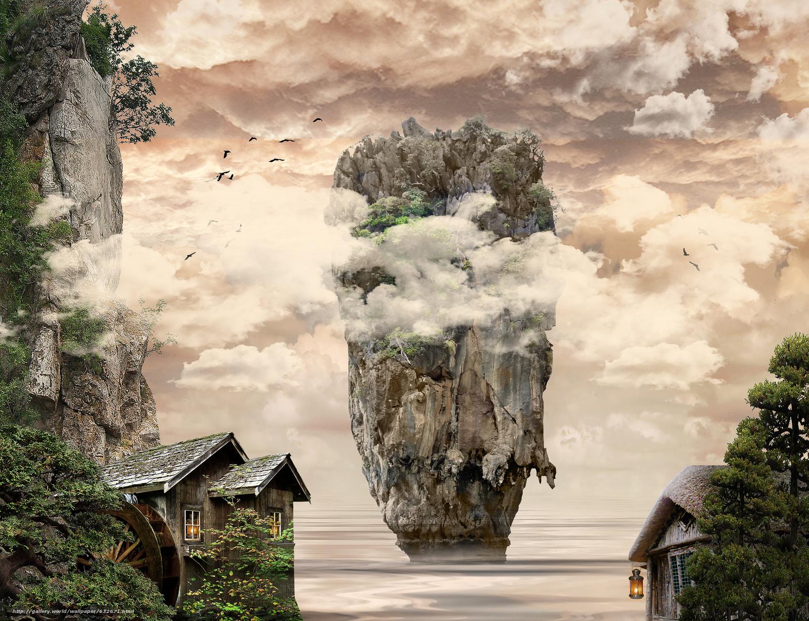 Descargar gratis isla,  mar,  Rocas,  casas Fondos de escritorio en la resolucin 4132x3169 — imagen №632671