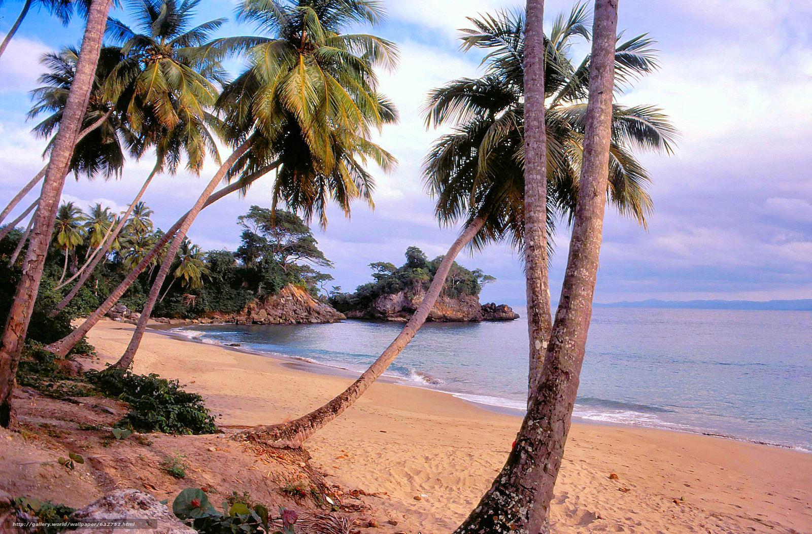 Download wallpaper Santo Domingo, Repubblica Dominicana, sea, Palms free desktop wallpaper in the resolution 2584x1700 — picture №632752