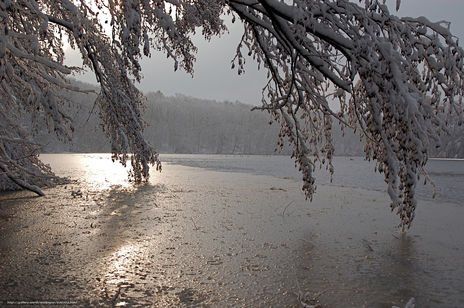 scaricare gli sfondi inverno,  lago,  tramonto,  paesaggio Sfondi gratis per la risoluzione del desktop 3008x2000 — immagine №633302