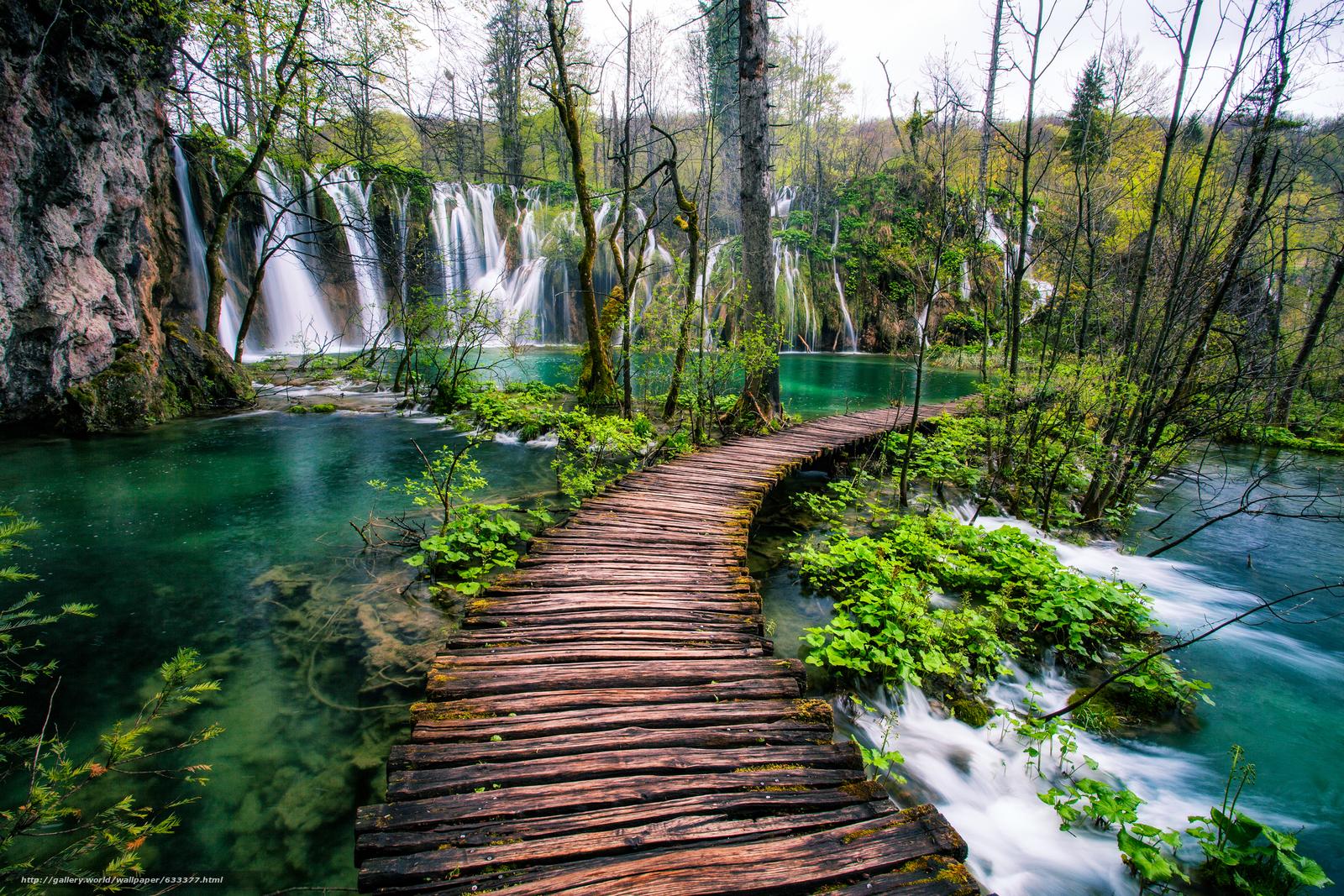 Tlcharger Fond D Ecran Les Lacs De Plitvice Croatie
