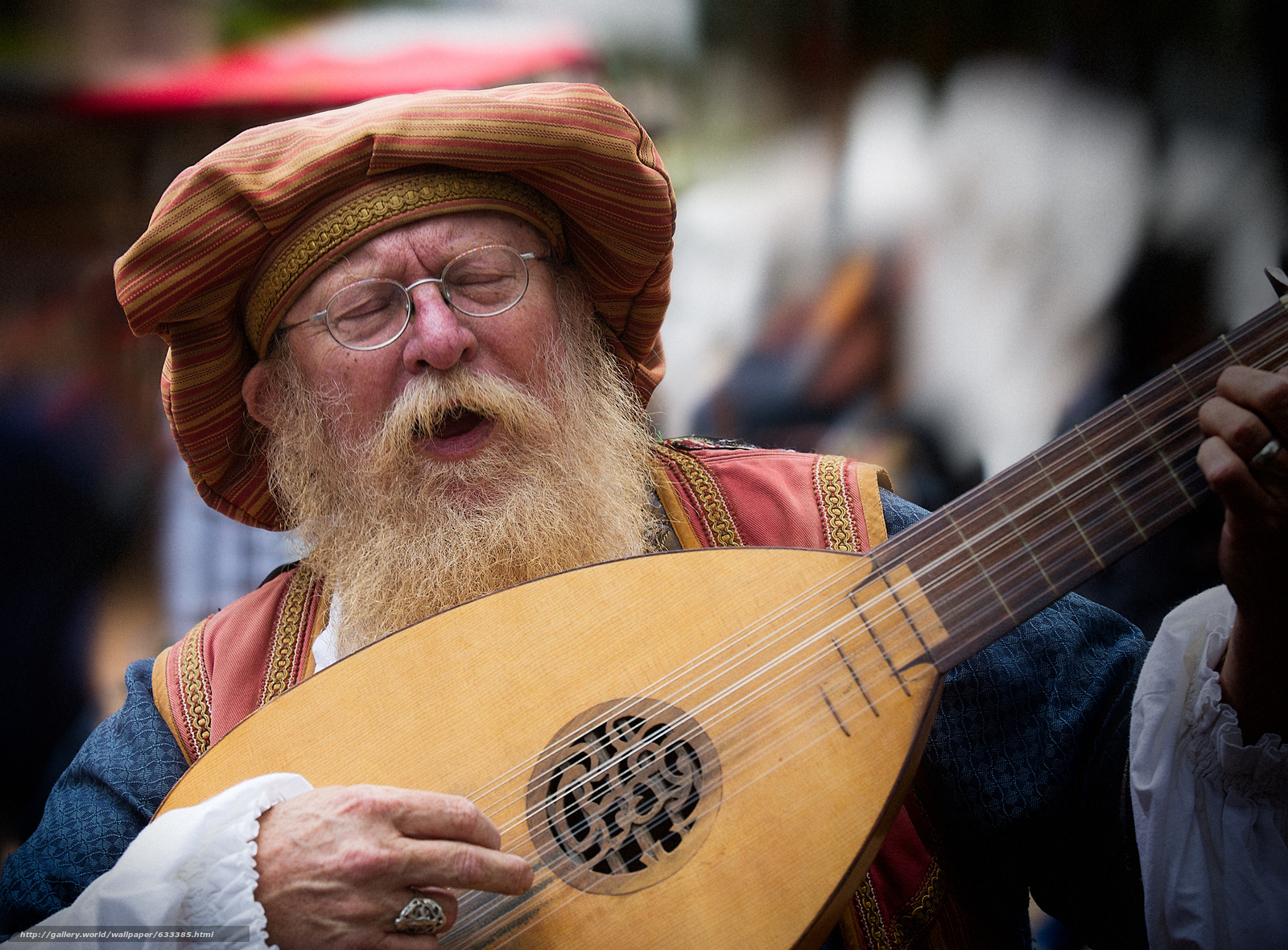 Download wallpaper lute,  musical instrument,  old man,  beard free desktop wallpaper in the resolution 4722x3482 — picture №633385