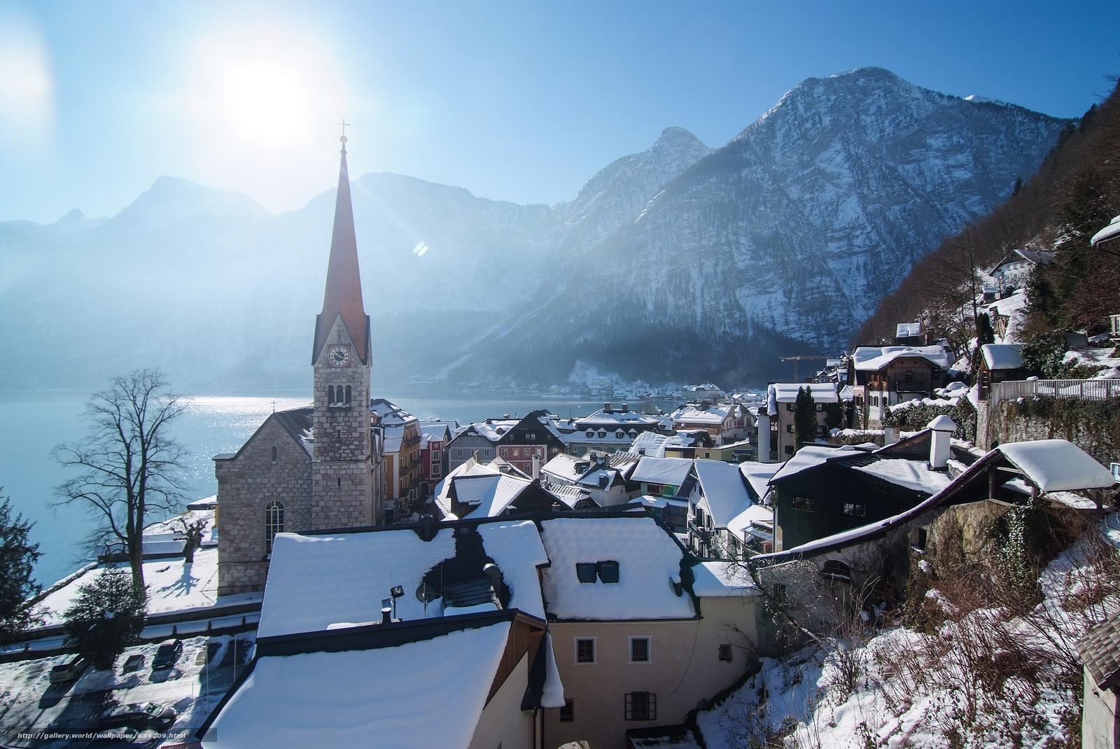 scaricare gli sfondi Hallstatt,  Austria,  Lago di Hallstatt,  Alpi Sfondi gratis per la risoluzione del desktop 4185x2800 — immagine №634209