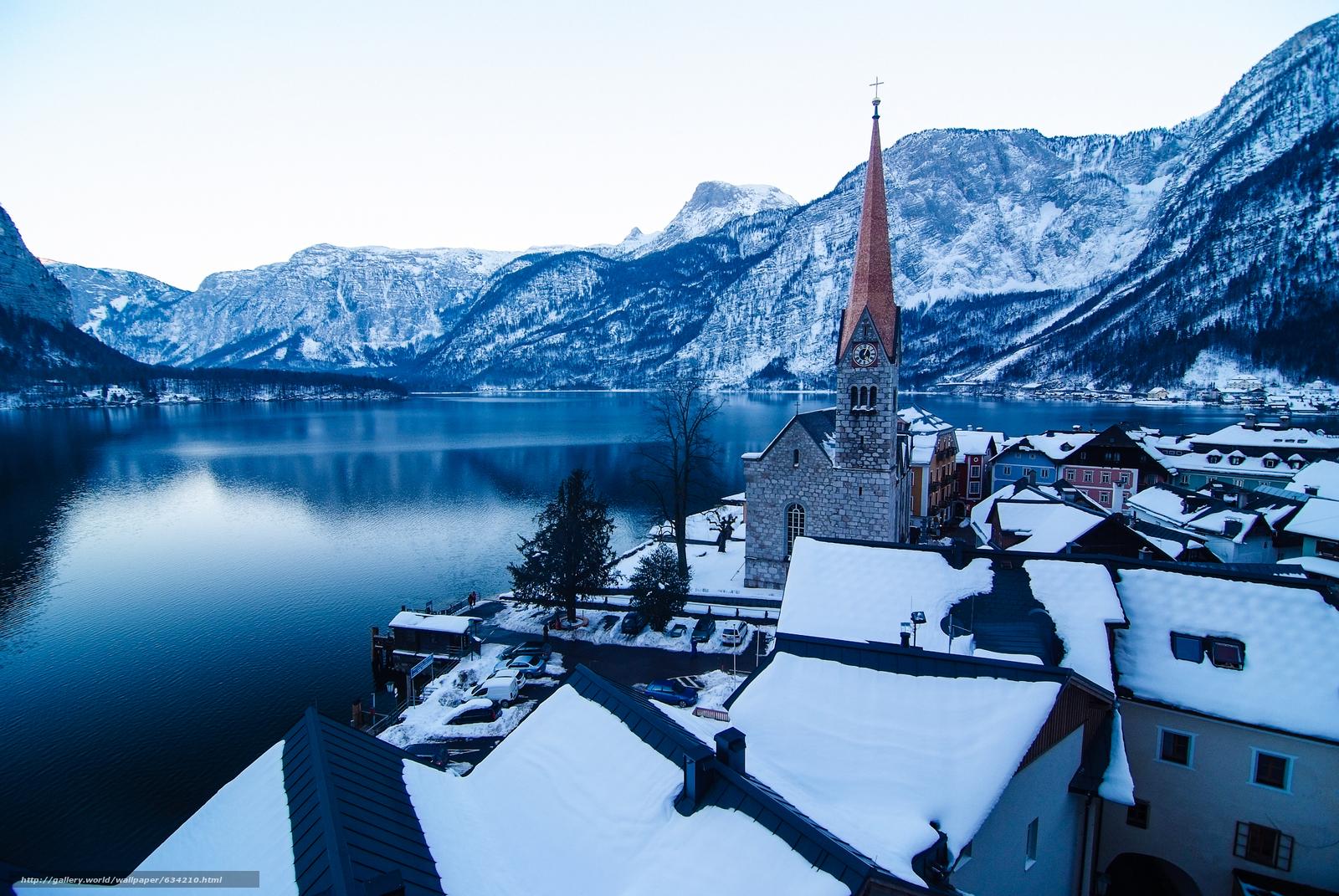 scaricare gli sfondi Hallstatt,  Austria,  Lago di Hallstatt,  Alpi Sfondi gratis per la risoluzione del desktop 4256x2848 — immagine №634210