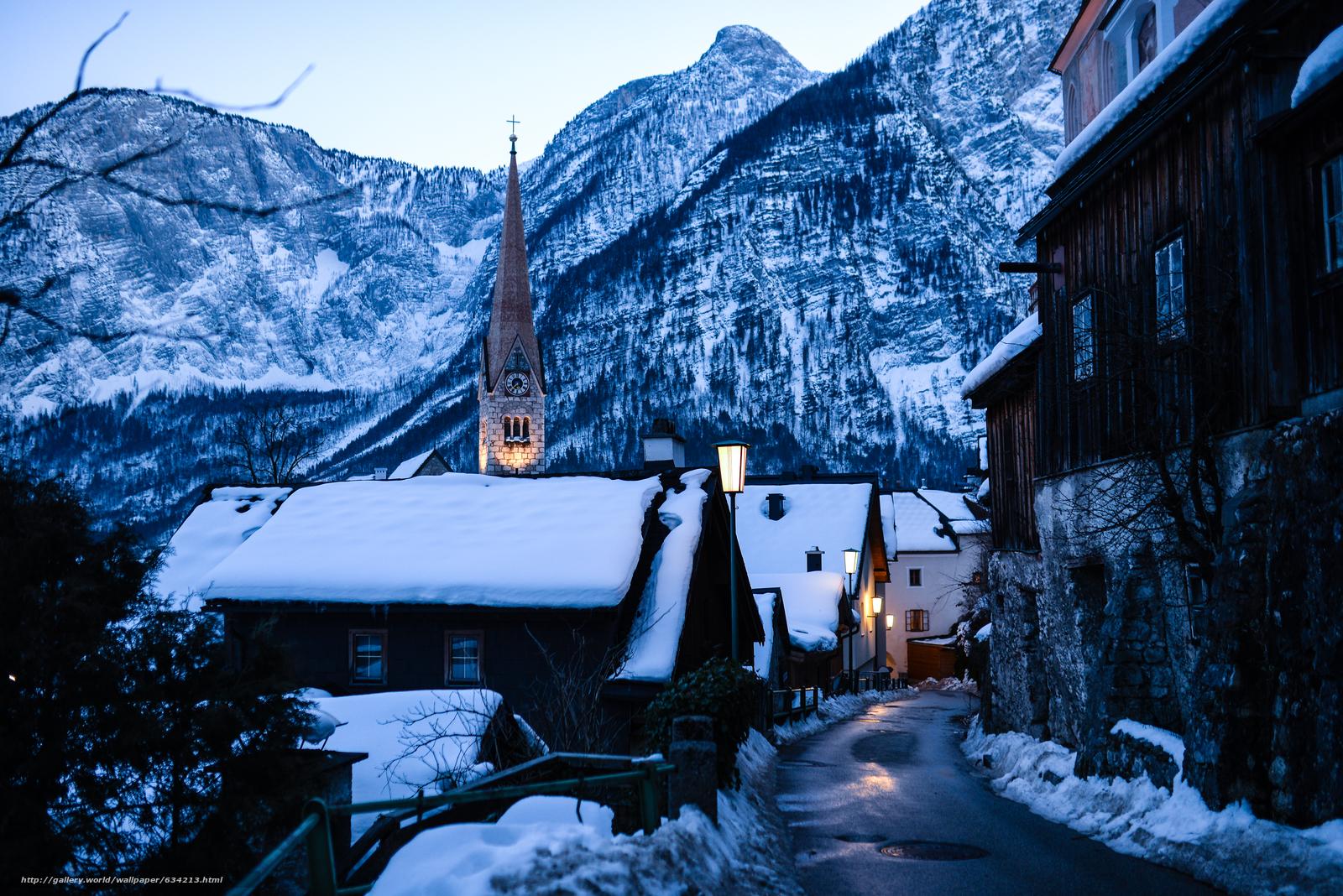 scaricare gli sfondi Hallstatt,  Austria,  Lago di Hallstatt,  Alpi Sfondi gratis per la risoluzione del desktop 6002x4006 — immagine №634213