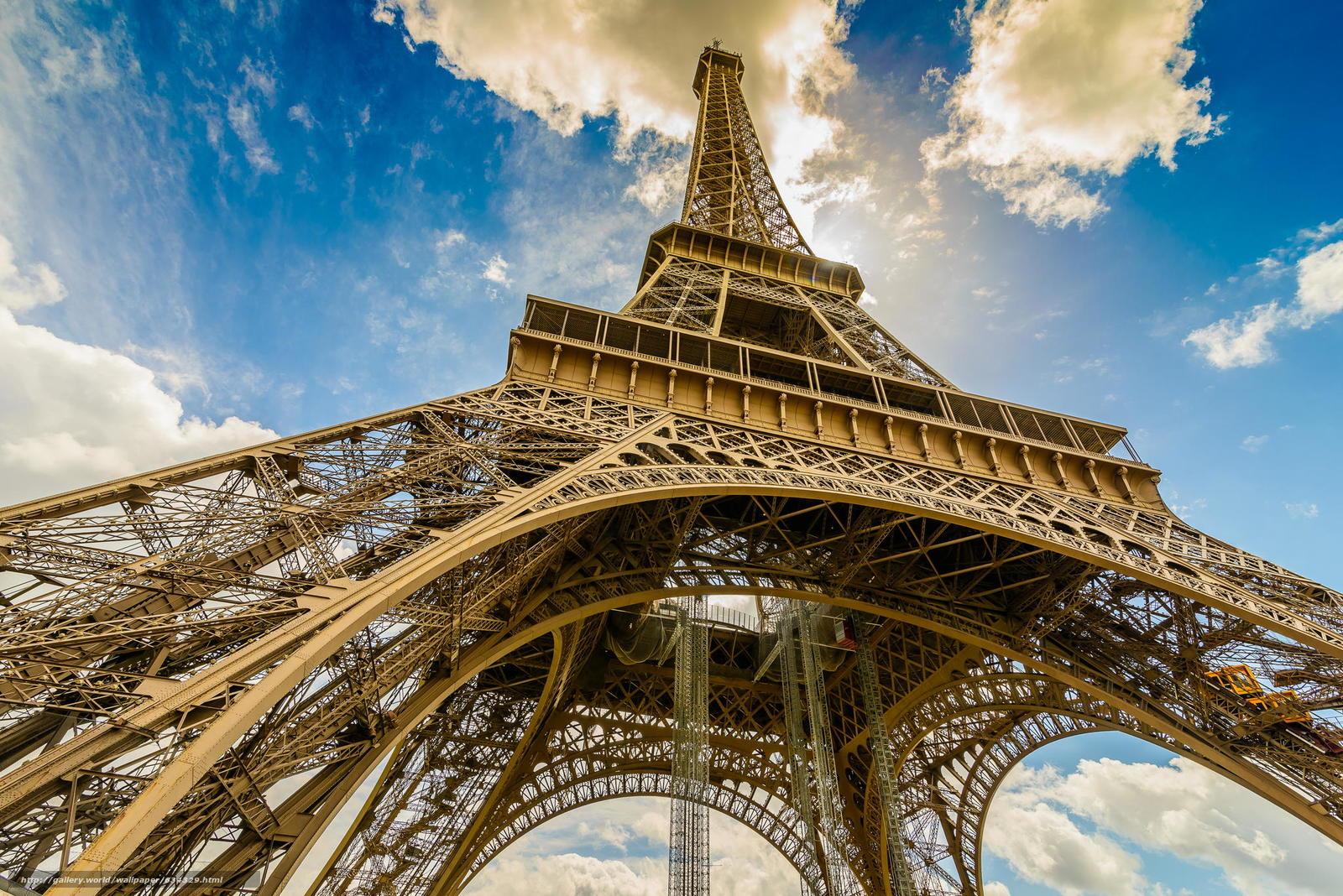 Download Wallpaper Eiffel Tower Paris France Free