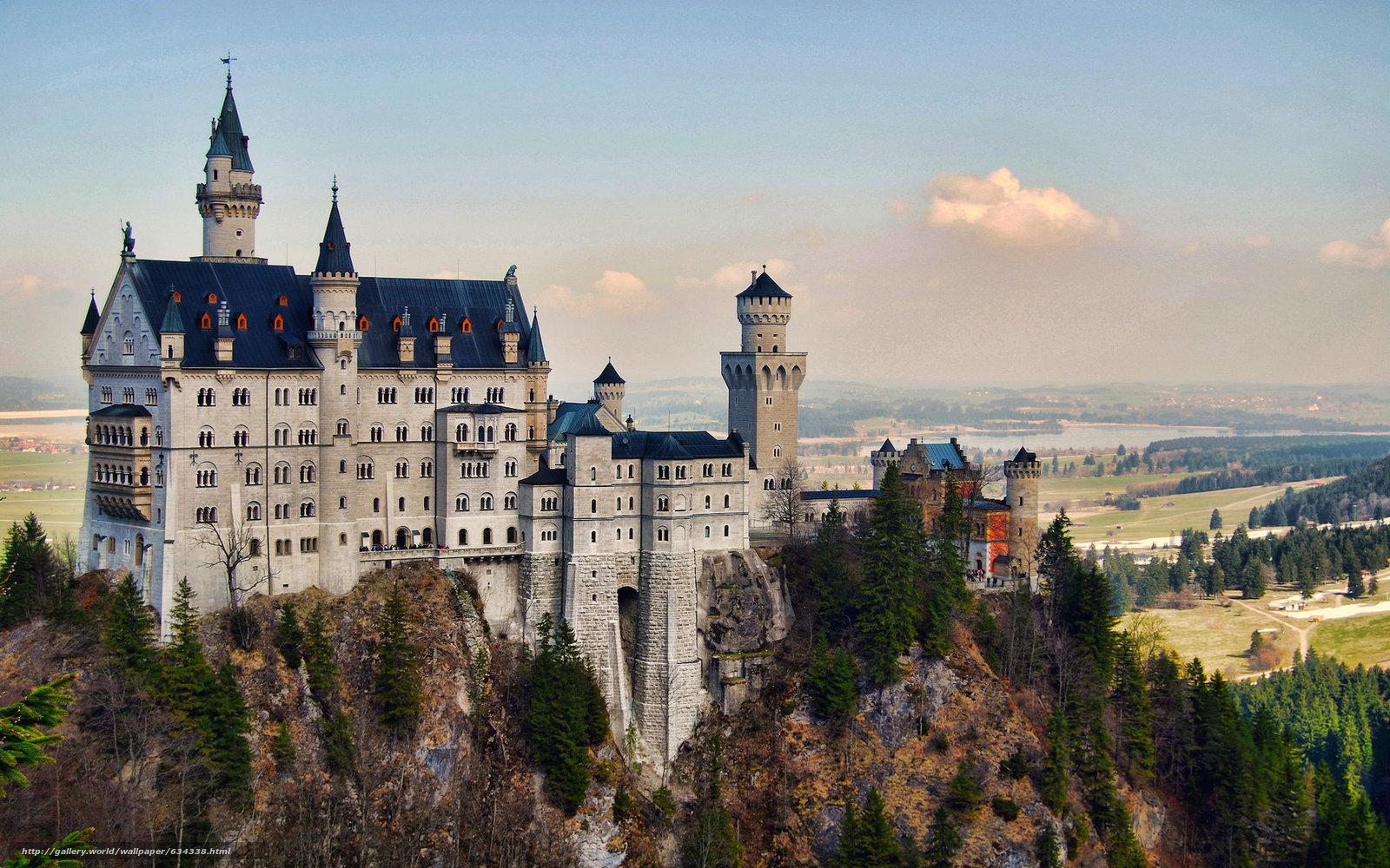 Скачать обои Neuschwanstein Castle,  Bavaria,  Germany,  Замок Нойшванштайн бесплатно для рабочего стола в разрешении 2048x1280 — картинка №634338