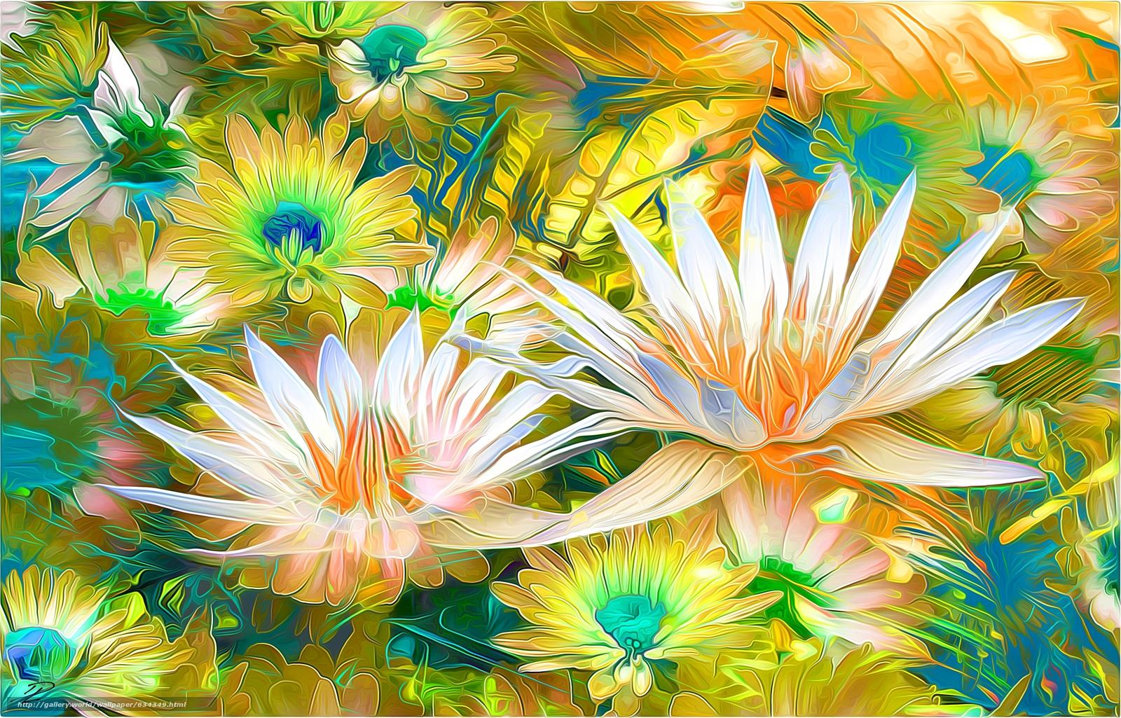 下载壁纸 花卉,  3D,  艺术 免费为您的桌面分辨率的壁纸 2959x1896 — 图片 №634349