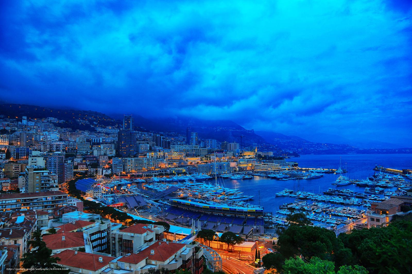 scaricare gli sfondi città,  Monaco,  Monte Carlo,  sera Sfondi gratis per la risoluzione del desktop 5753x3829 — immagine №634369