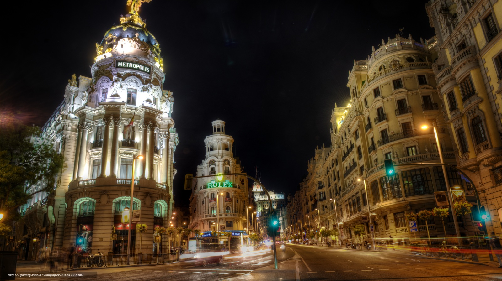 Download wallpaper Madrid,  Architecture,  city,  night free desktop wallpaper in the resolution 6031x3383 — picture №634379