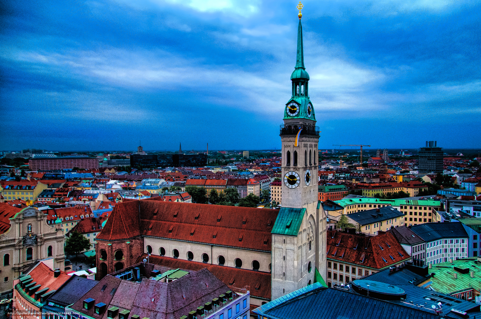 Download wallpaper Munich,  St. Peter's Church,  Germany free desktop wallpaper in the resolution 3857x2562 — picture №634443