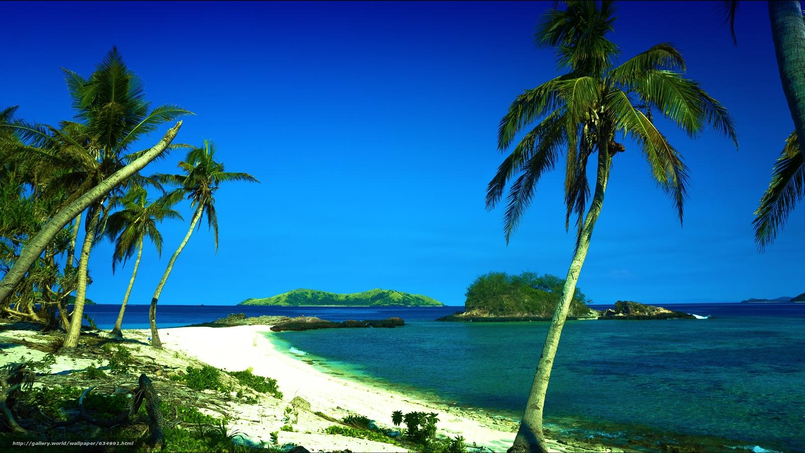 下载壁纸 斐济群岛, 在南太平洋