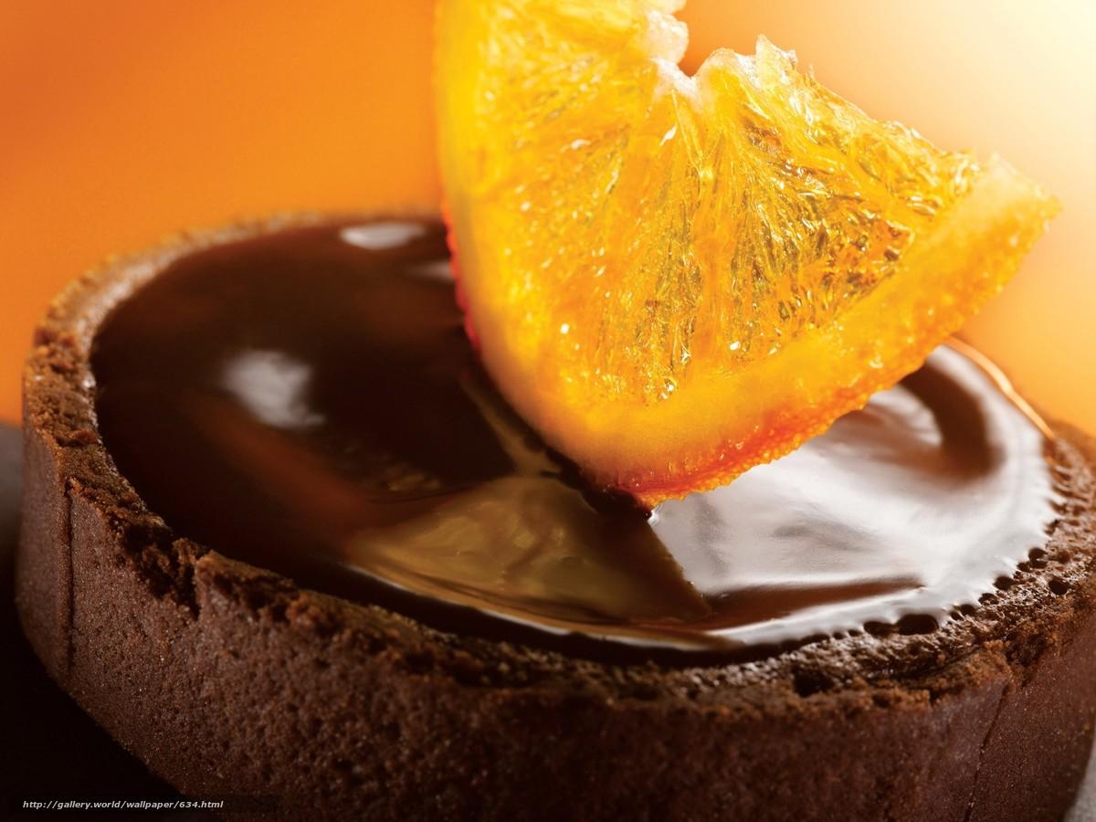 Скачать обои сладость,  еда,  шоколад,  апельсин бесплатно для рабочего стола в разрешении 1600x1200 — картинка №634
