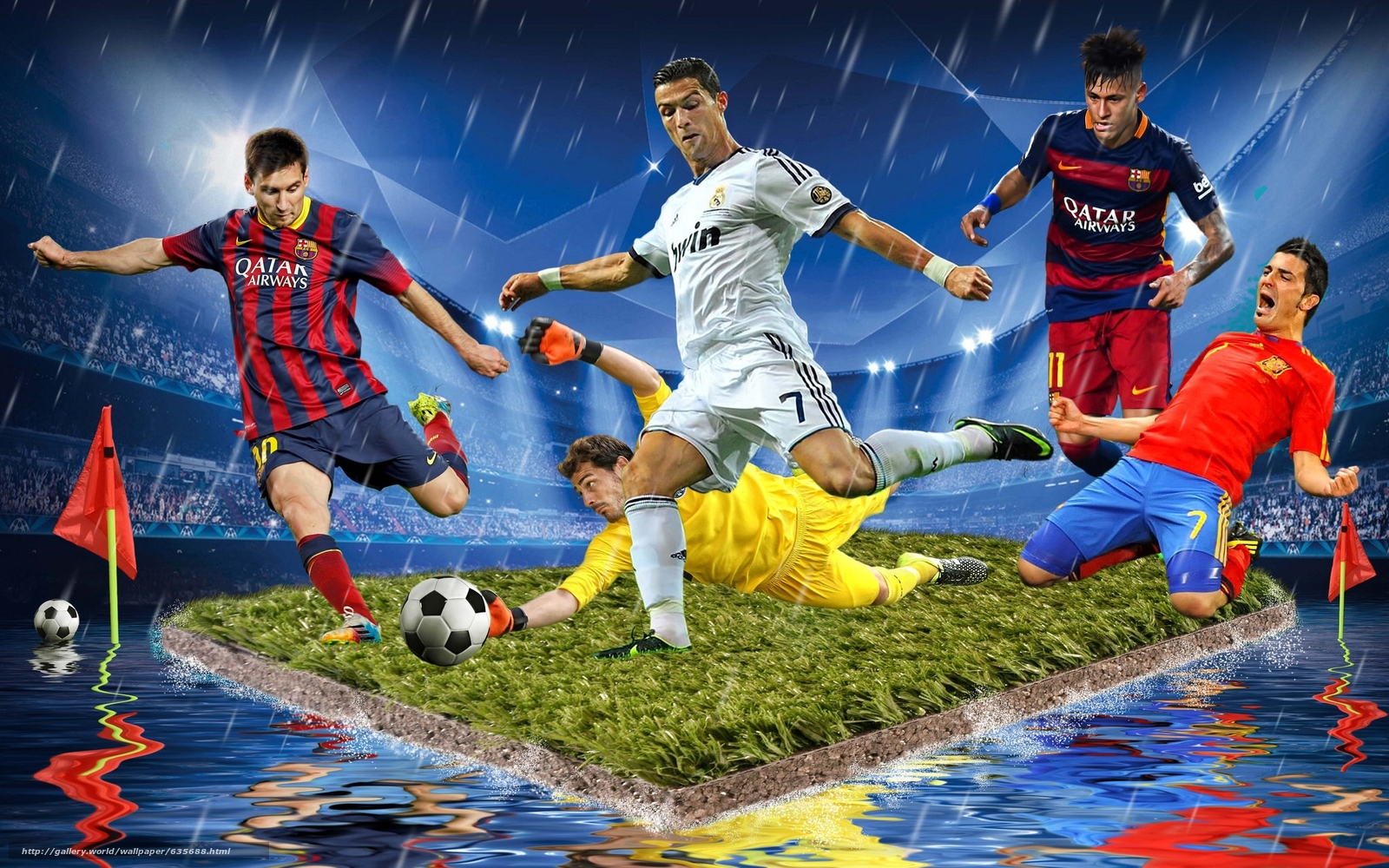 Download wallpaper football,  players,  island,  STADIUM free desktop wallpaper in the resolution 2048x1280 — picture №635688