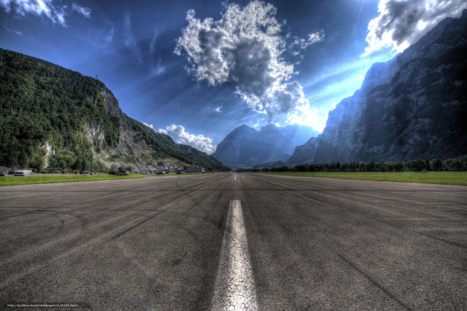 Скачать обои Аэродром Mollis,  Швейцария,  пейзаж бесплатно для рабочего стола в разрешении 6016x4016 — картинка №635739