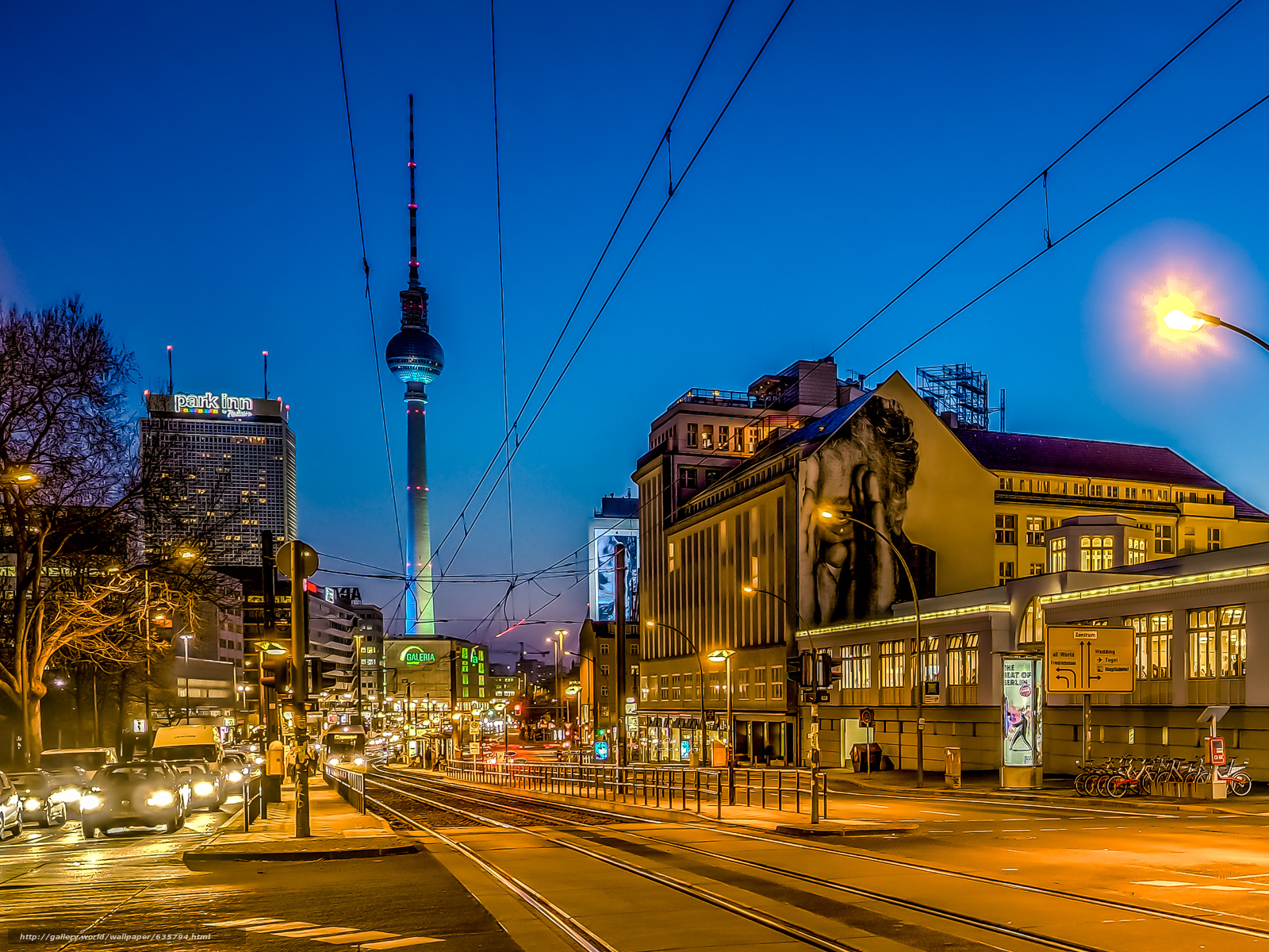 Download wallpaper Berlin,  city,  night,  lights free desktop wallpaper in the resolution 1600x1200 — picture №635794