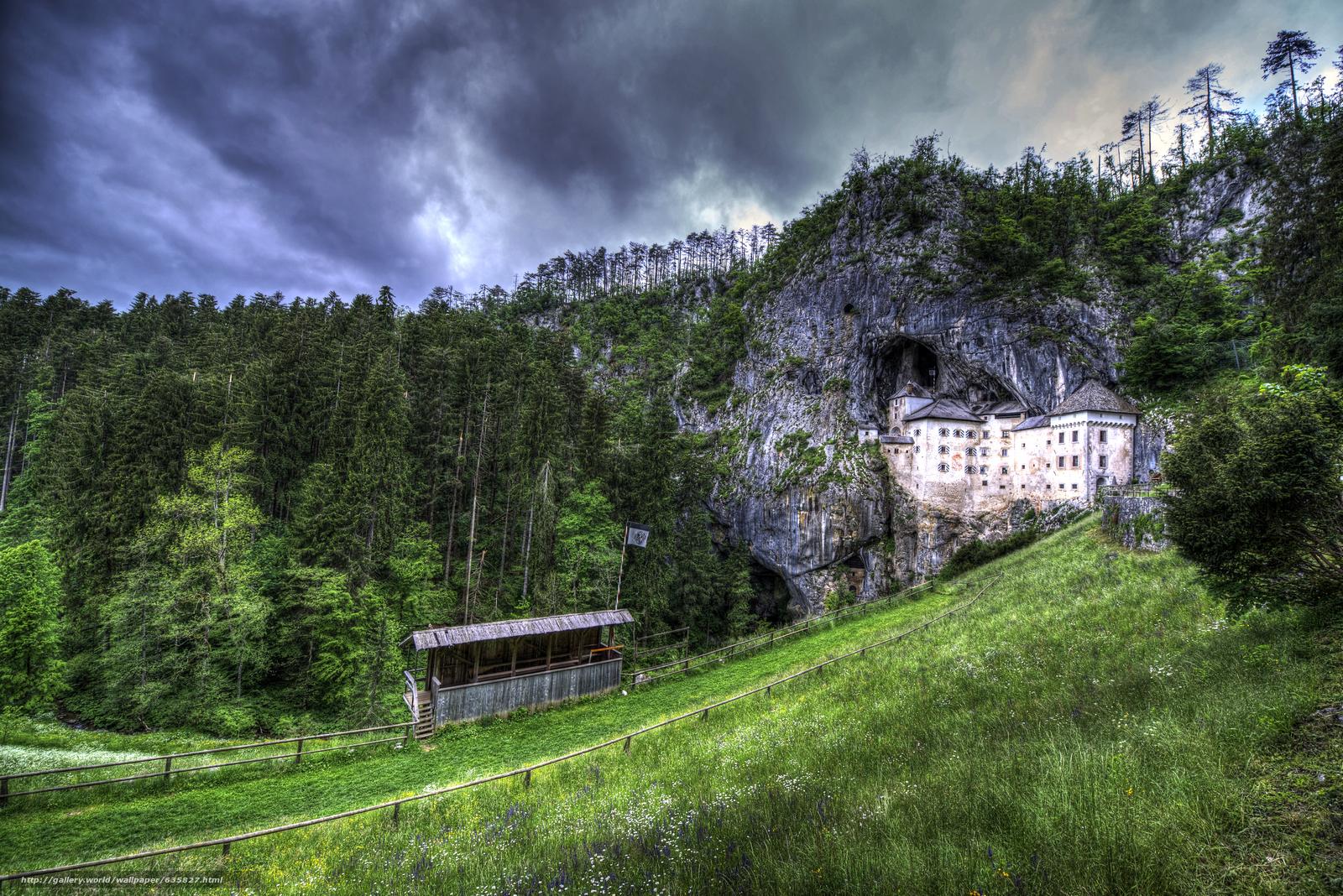 Скачать обои Словения,  Предъямский замок,  пейзаж бесплатно для рабочего стола в разрешении 6016x4016 — картинка №635827