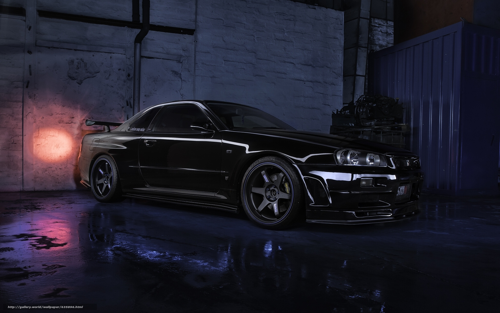 Download wallpaper Nissan Skyline R34 GTR V,  Nissan,  Skyline free desktop wallpaper in the resolution 2048x1285 — picture №635896