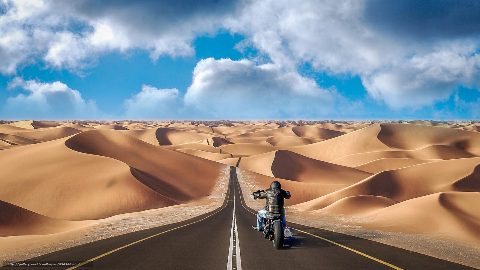 pobra tapety droga,  piaski,  motocyklista Darmowe tapety na pulpit rozdzielczoci 1920x1080 — zdjcie №636366