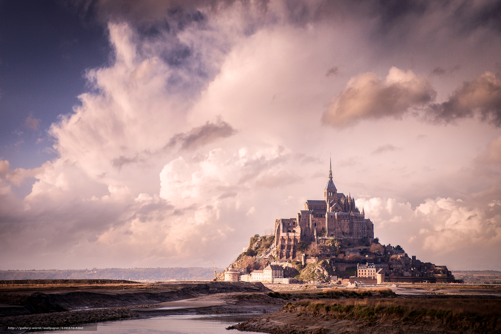 Download wallpaper Mont St. Michel,  Mont Saint-Michel,  Mount St. Michael,  a small rocky island free desktop wallpaper in the resolution 5616x3744 — picture №636370