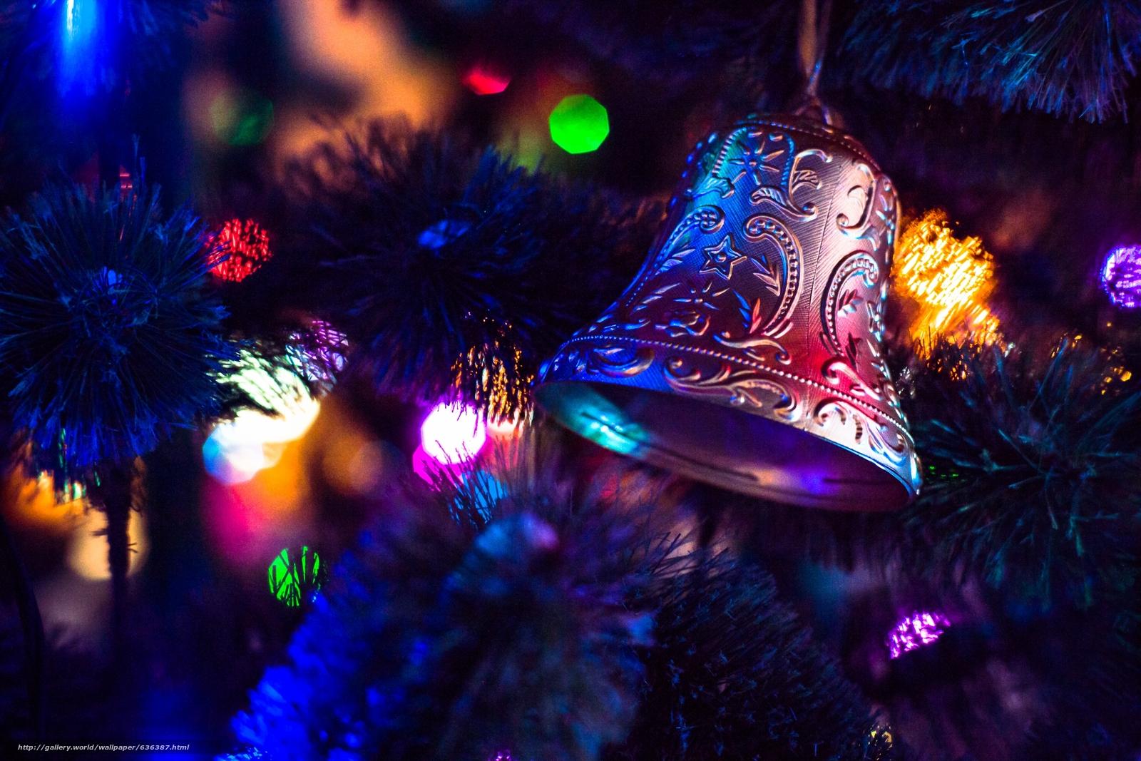 Скачать обои новогодняя ёлка,  гирлянды,  огни,  игрушки бесплатно для рабочего стола в разрешении 2496x1664 — картинка №636387