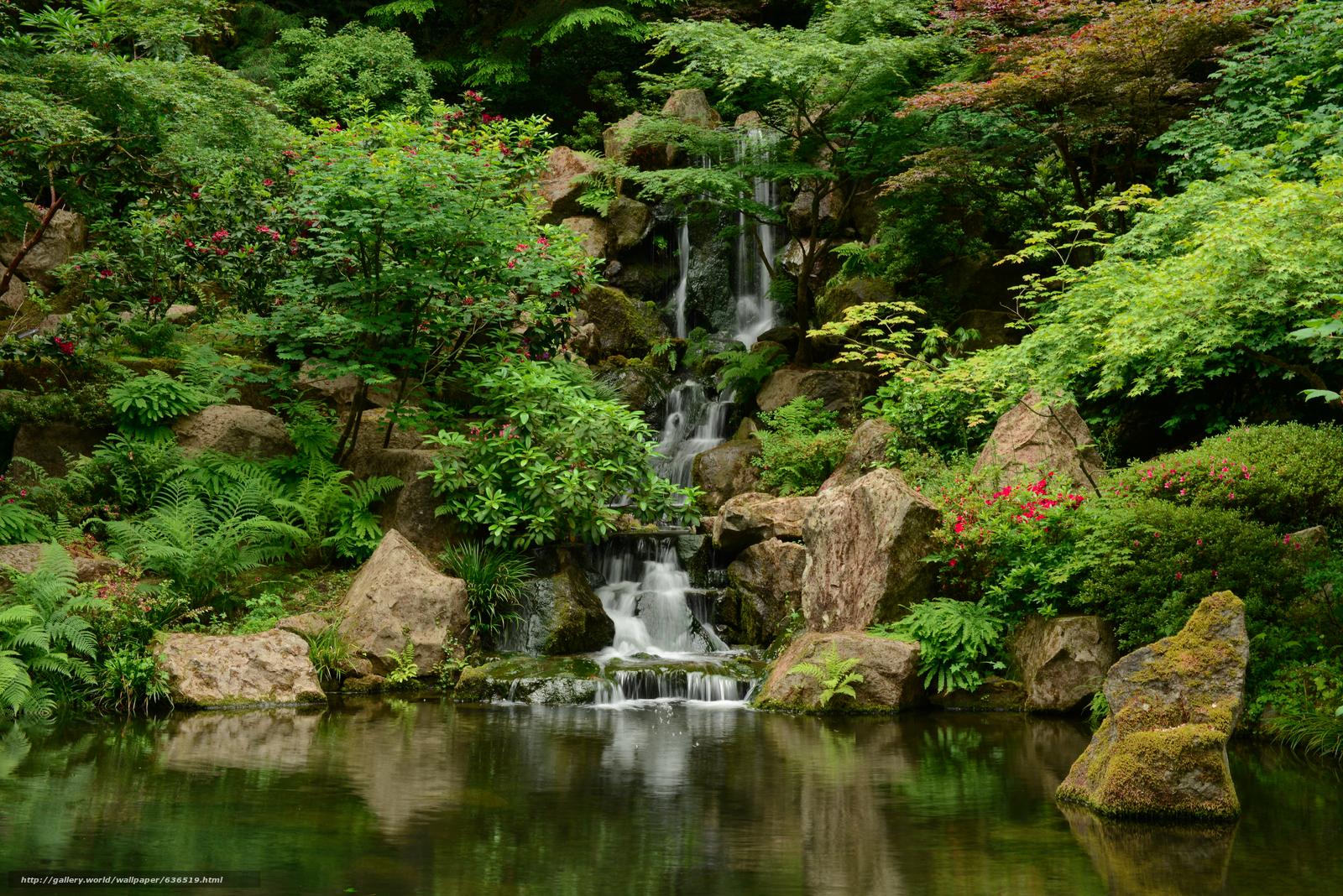Download Wallpaper Japanese Garden Washington Park Portland Oregon Free Desktop Wallpaper In