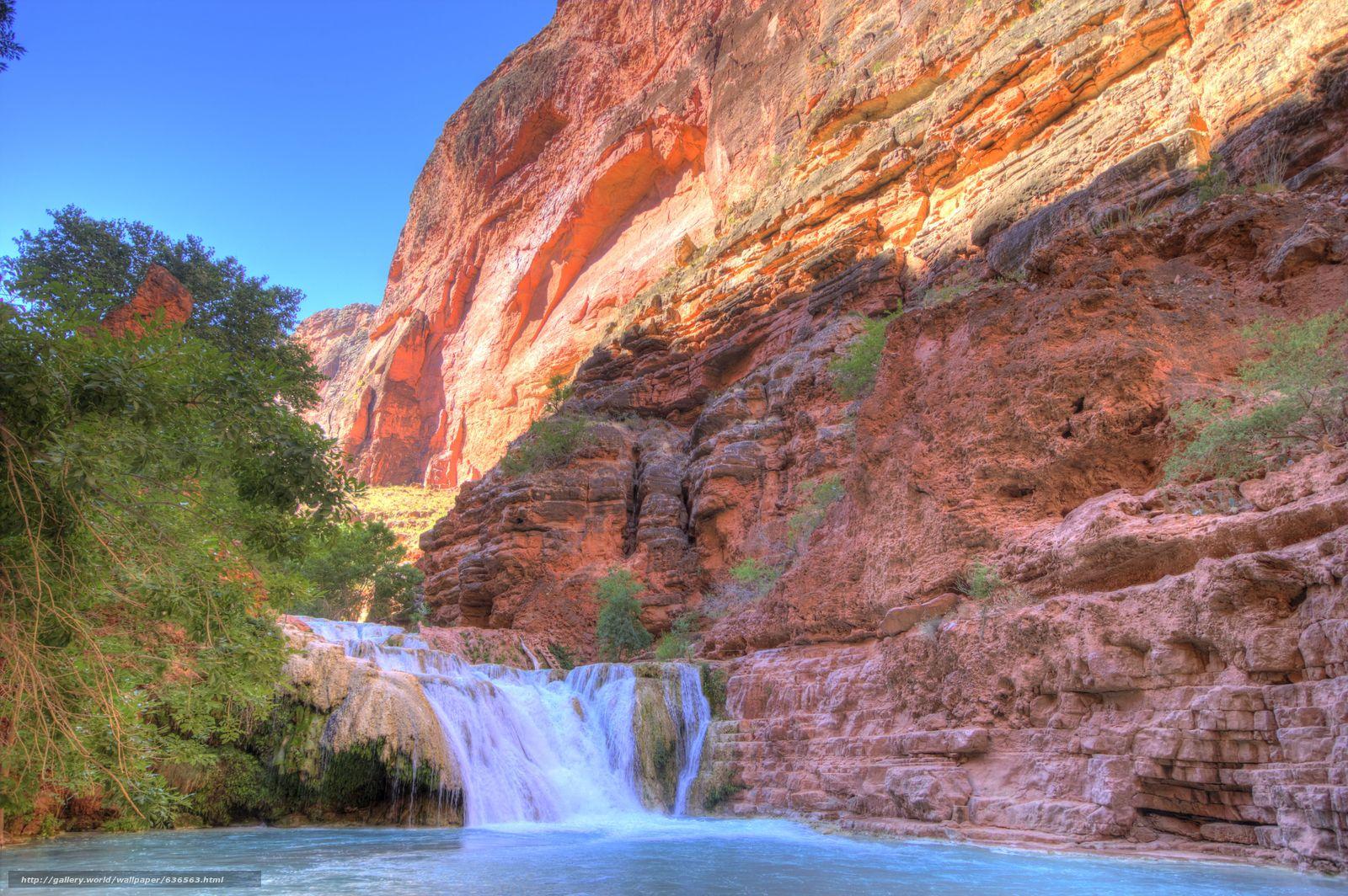 scaricare gli sfondi Beaver Falls,  Grand Canyon,  e AZ,  USA Sfondi gratis per la risoluzione del desktop 5188x3449 — immagine №636563