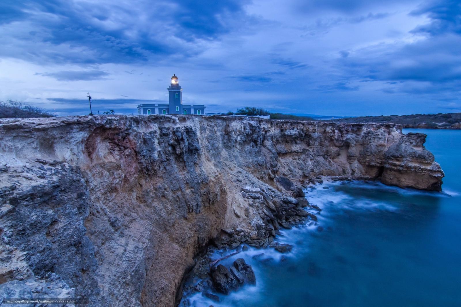 scaricare gli sfondi Cabo Rojo,  Portorico,  tramonto,  mare Sfondi gratis per la risoluzione del desktop 4858x3239 — immagine №636571