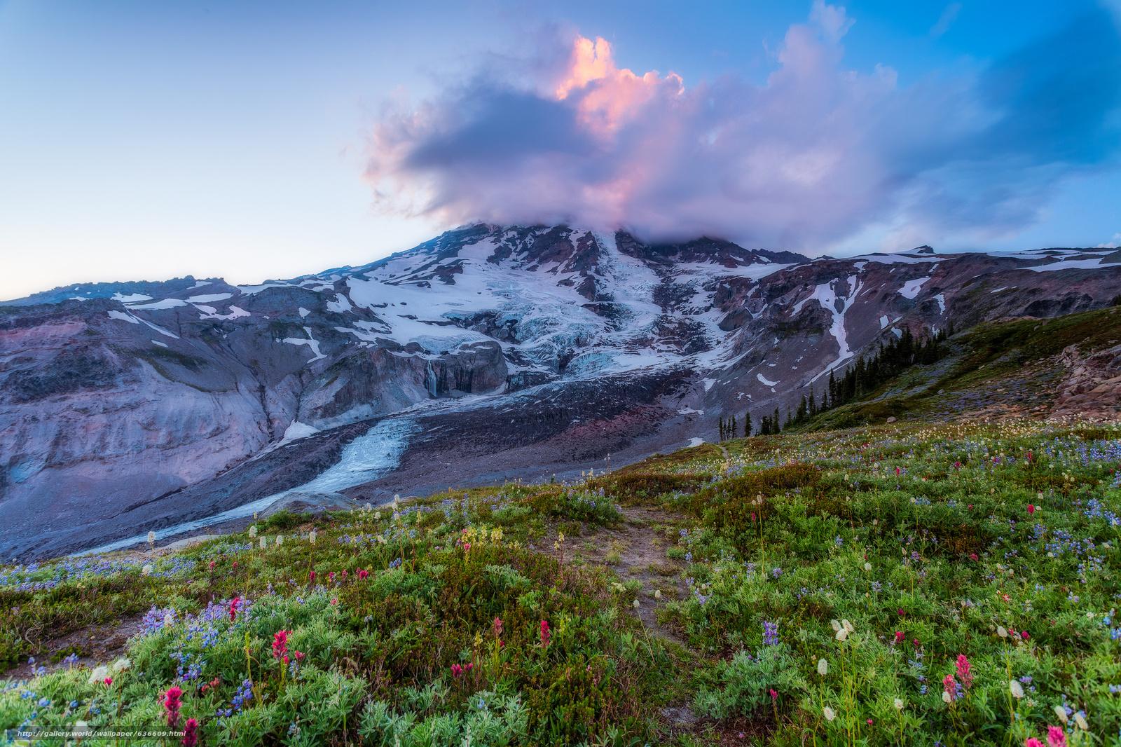 scaricare gli sfondi Mount Rainier National Park,  Parchi Nazionali,  Washington,  Montagne Sfondi gratis per la risoluzione del desktop 2048x1365 — immagine №636609