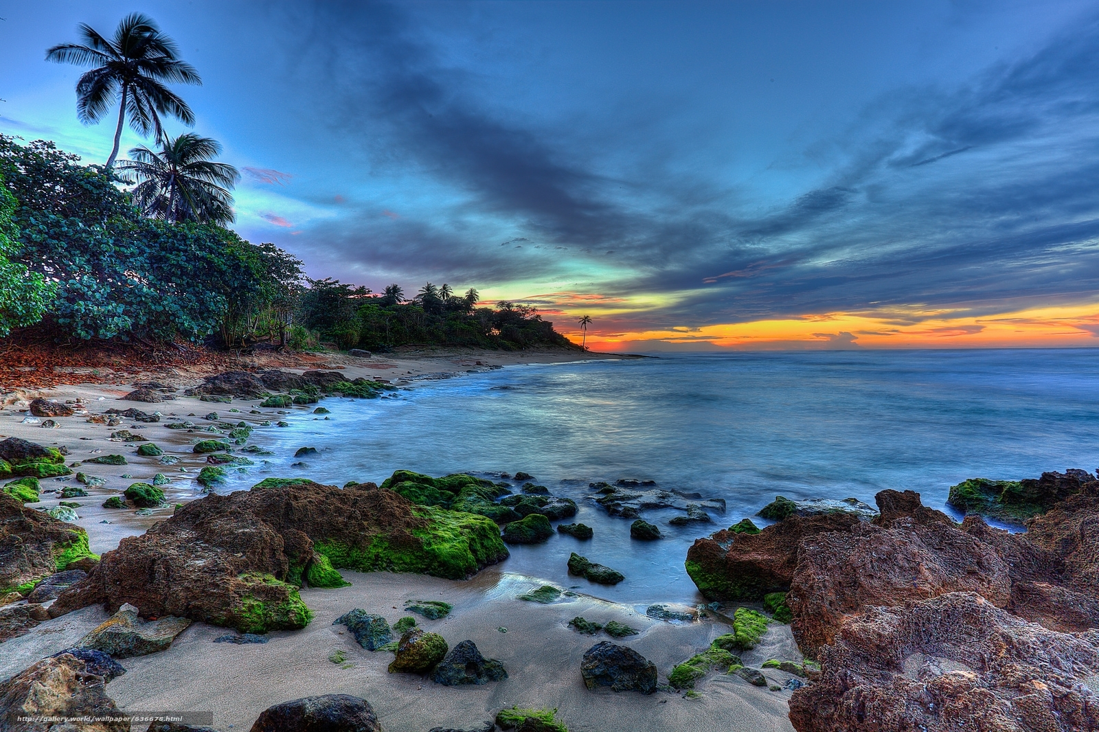Download Wallpaper Aguadilla Puerto Rico Sunset Sea Free Desktop