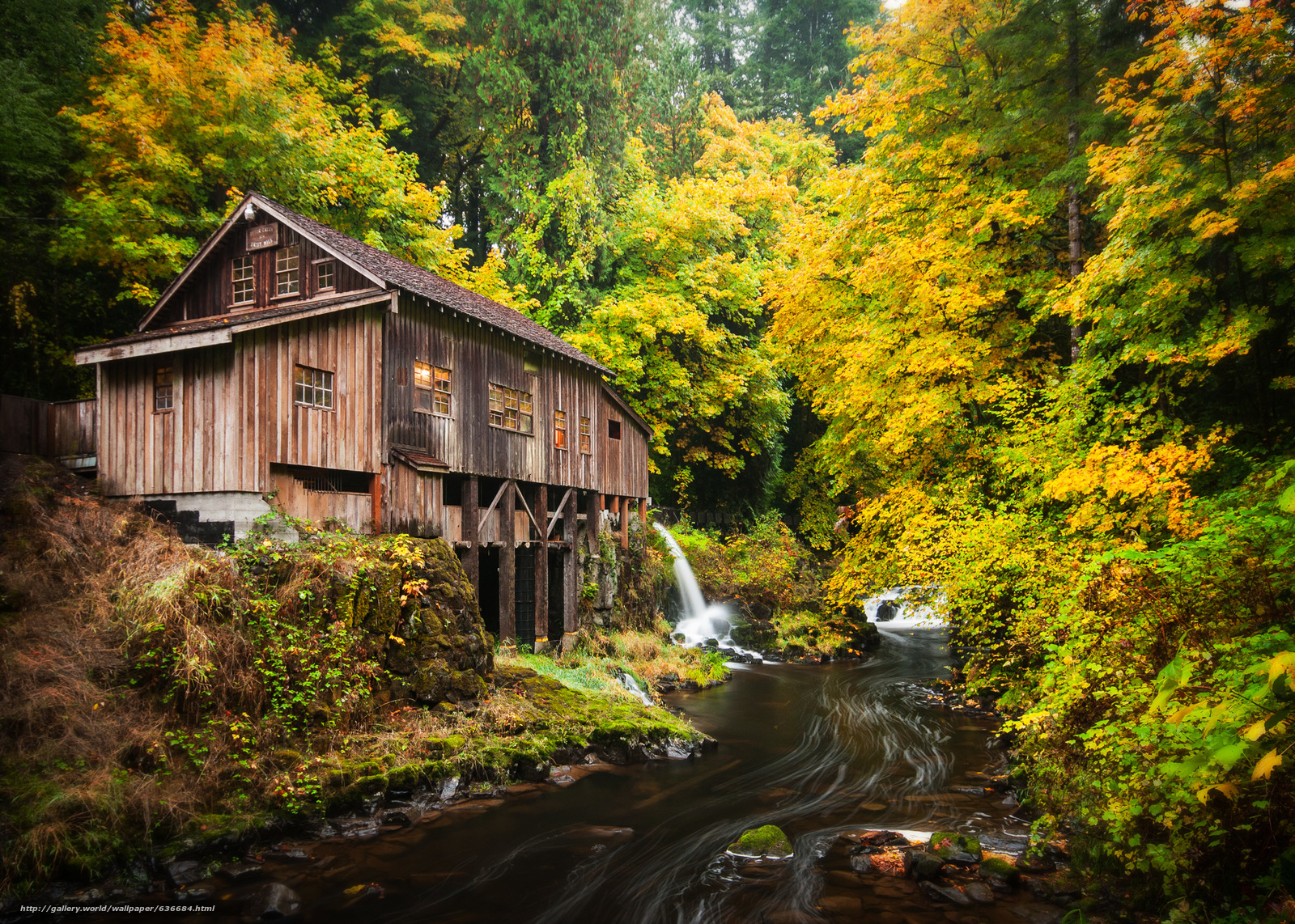 Download wallpaper cedar creek grist mill woodland for The cedar mill