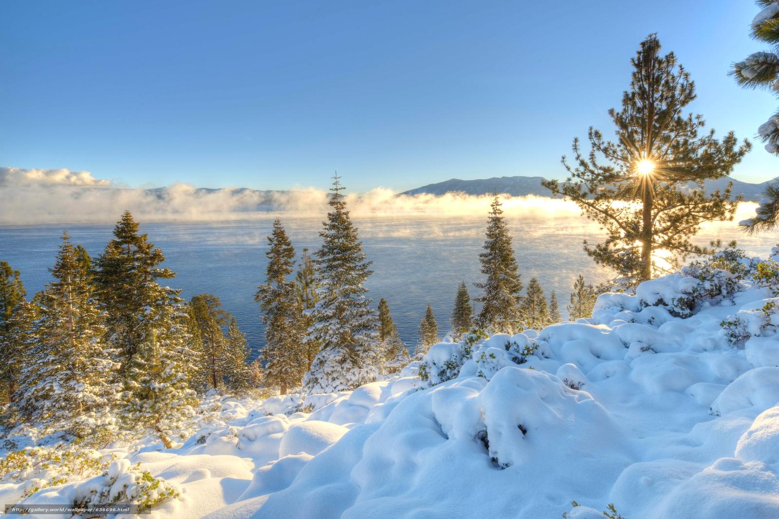 Download wallpaper Lake Tahoe,  Sierra Nevada,  California,  Nevada free desktop wallpaper in the resolution 6473x4315 — picture №636696