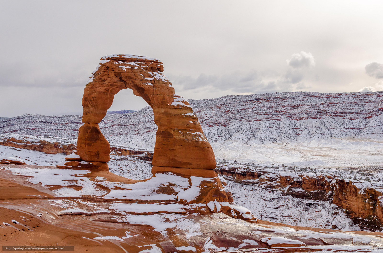 Download Wallpaper Delicate Arch Winter Arches National Park Sunset Free Desktop In The Resolution 2048x1356 Picture No636804