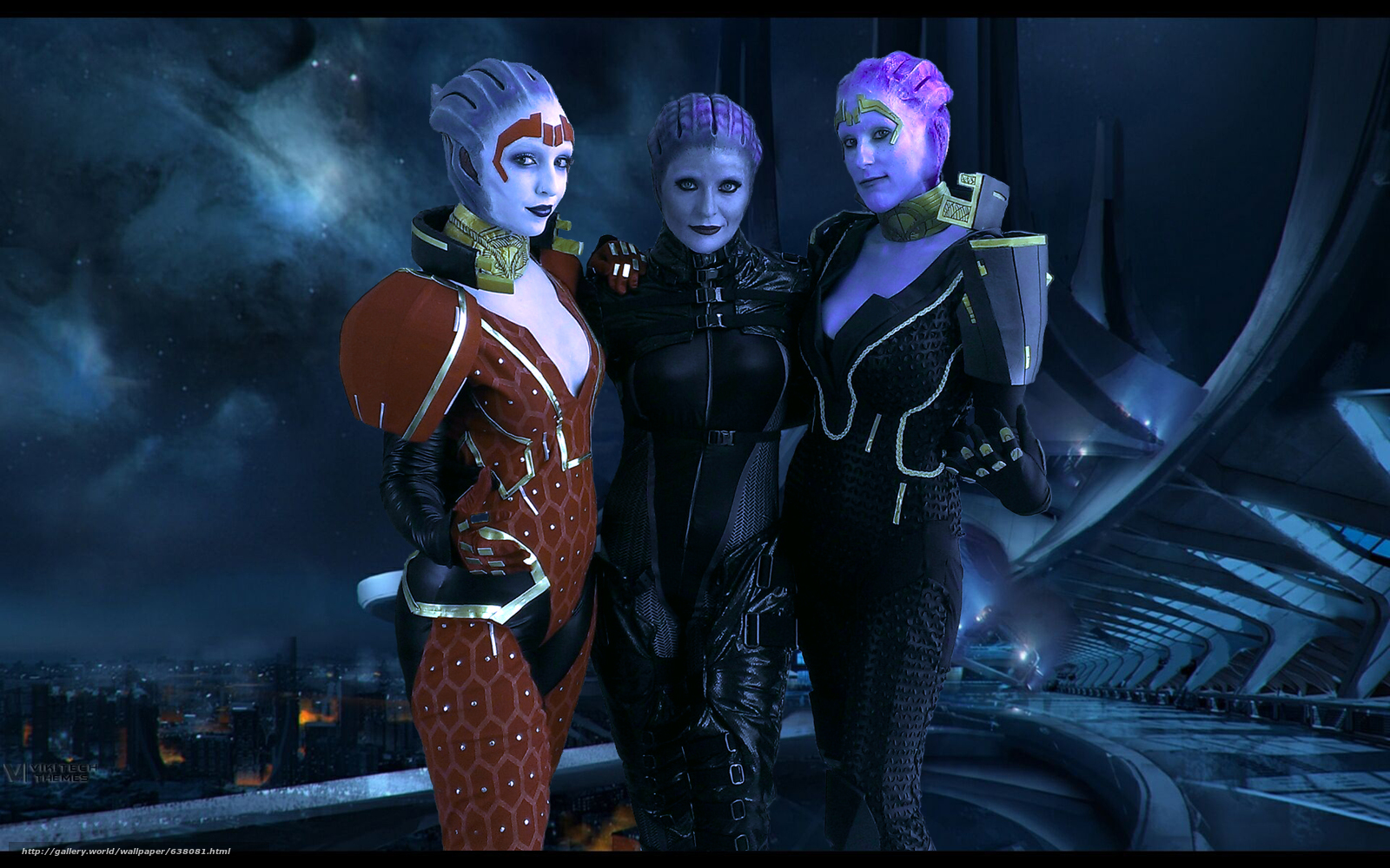 Download wallpaper mass effect,  asari,  Cosplay free desktop wallpaper in the resolution 1920x1200 — picture №638081