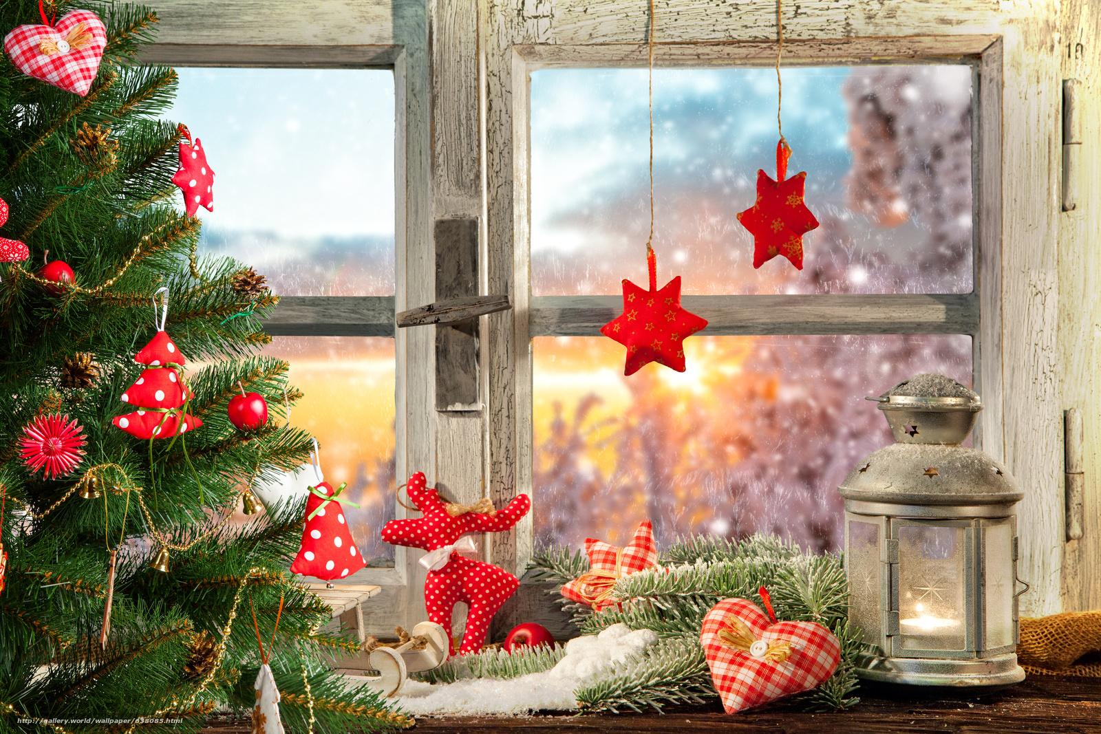 Download Hintergrund Neujahr Weihnachten Fenster