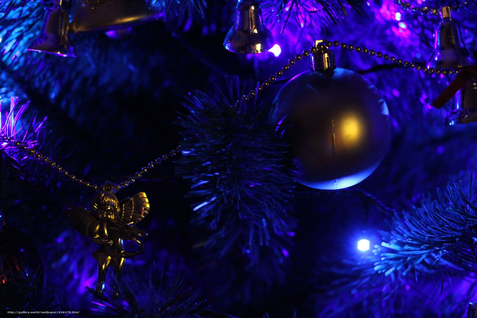 Скачать обои новогодняя ёлка,  гирлянды,  огни,  игрушки бесплатно для рабочего стола в разрешении 5120x3413 — картинка №638278