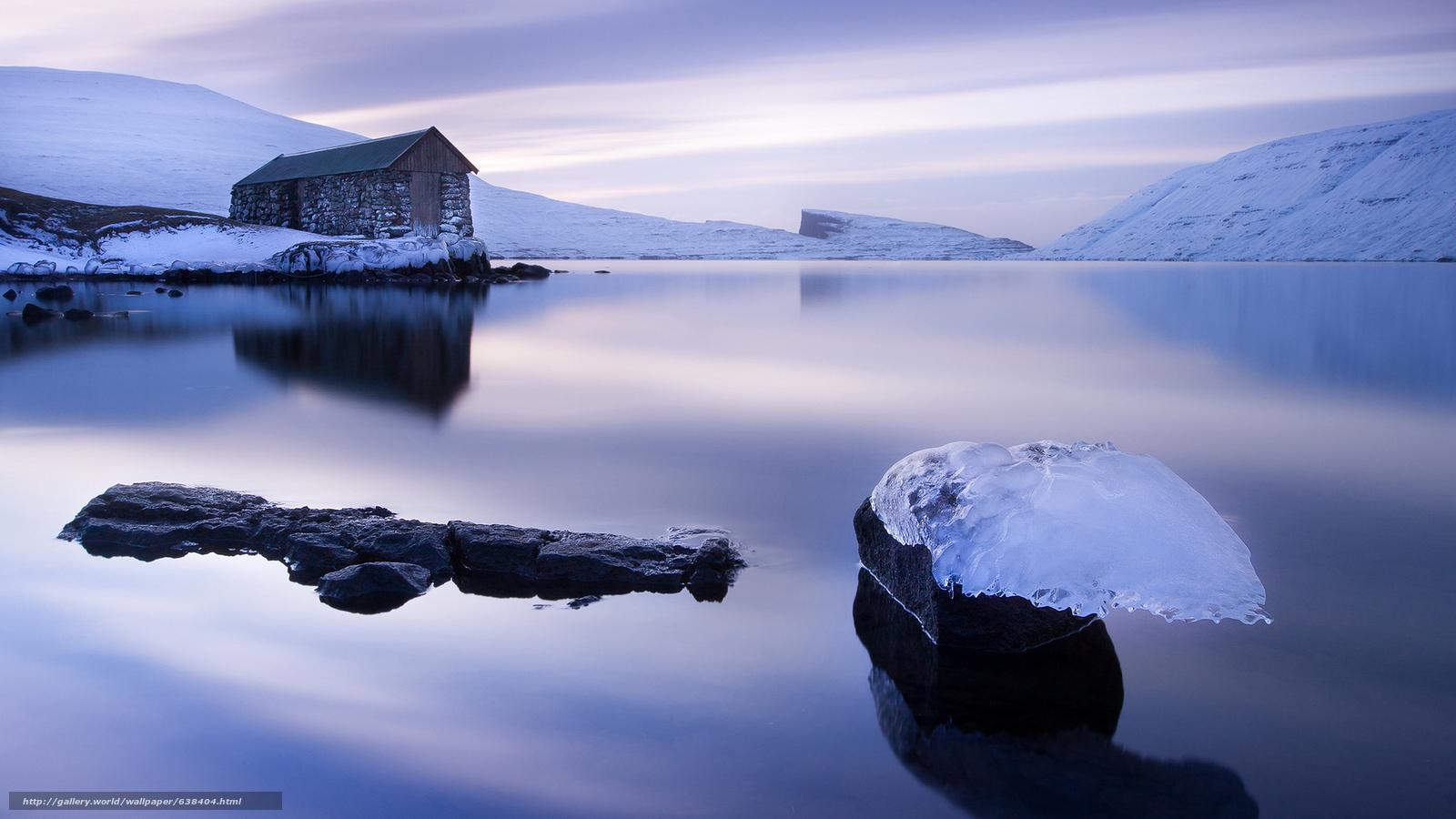 Скачать обои лёд,  ледник,  льдины,  зима бесплатно для рабочего стола в разрешении 2048x1152 — картинка №638404
