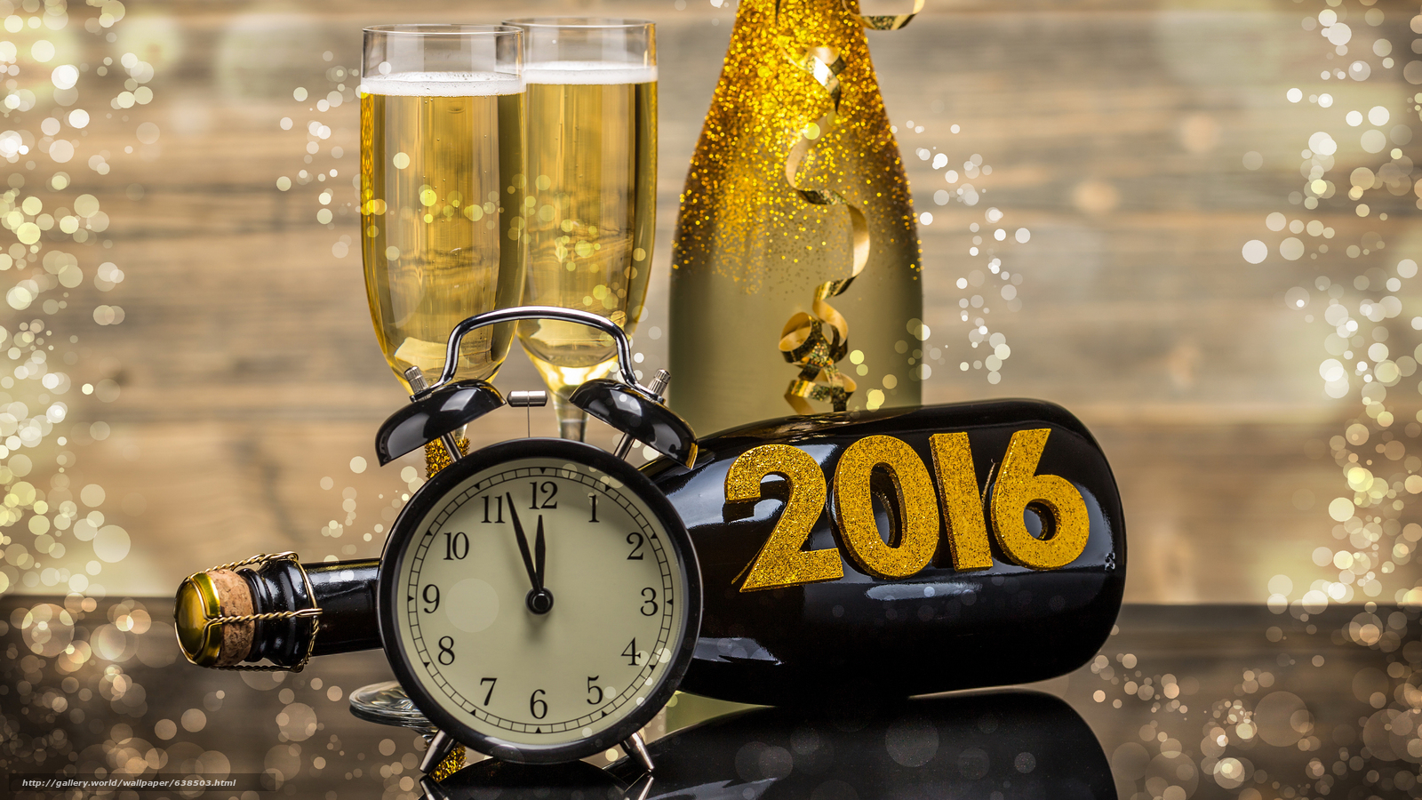 Download wallpaper New Year,  2016,  holiday,  date free desktop wallpaper in the resolution 3840x2160 — picture №638503