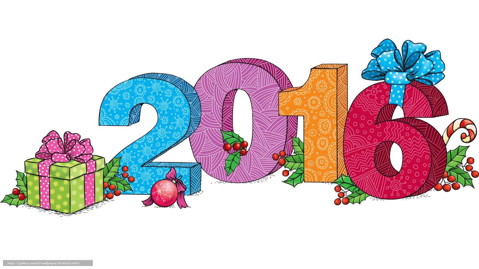 Descargar gratis Año Nuevo,  2016,  fiesta,  fecha Fondos de escritorio en la resolucin 7680x4320 — imagen №638523