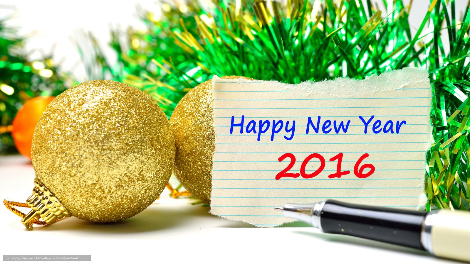 Descargar gratis Año Nuevo,  2016,  fiesta,  fecha Fondos de escritorio en la resolucin 7680x4320 — imagen №638544