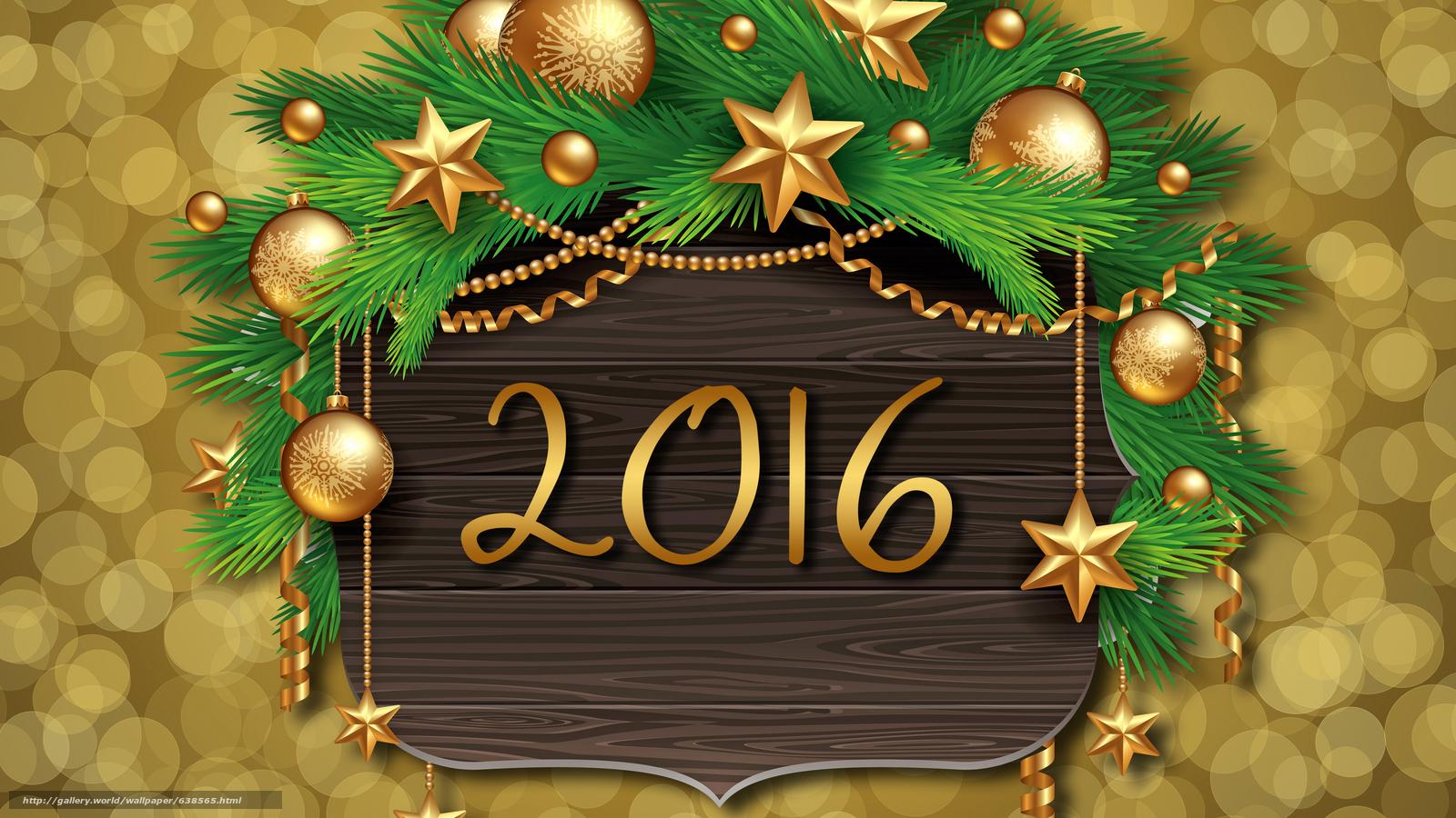 Descargar gratis Año Nuevo,  2016,  fiesta,  fecha Fondos de escritorio en la resolucin 7680x4320 — imagen №638565