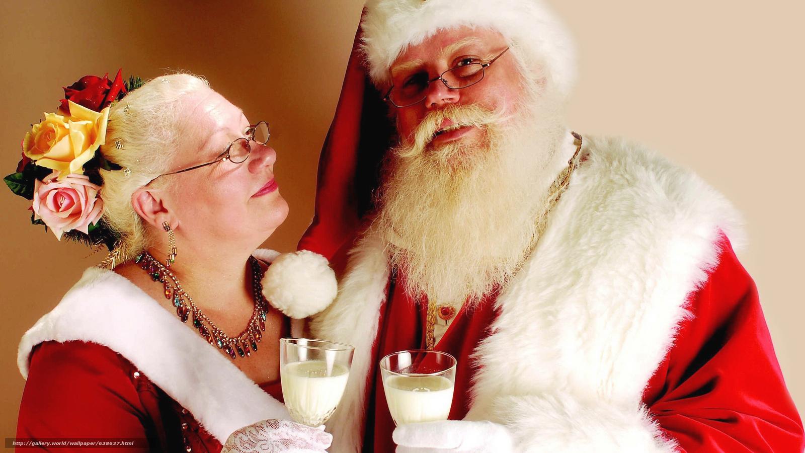 Descargar gratis Papá Noel,  Papá Noel,  Año Nuevo,  Navidad Fondos de escritorio en la resolucin 2560x1440 — imagen №638637