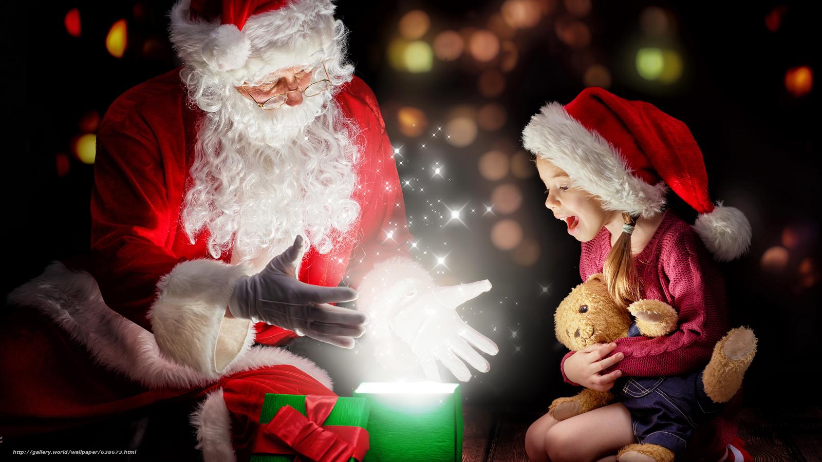 Скачать обои Дед Мороз,  Санта Клаус,  Новый год,  Рождество бесплатно для рабочего стола в разрешении 7680x4320 — картинка №638673
