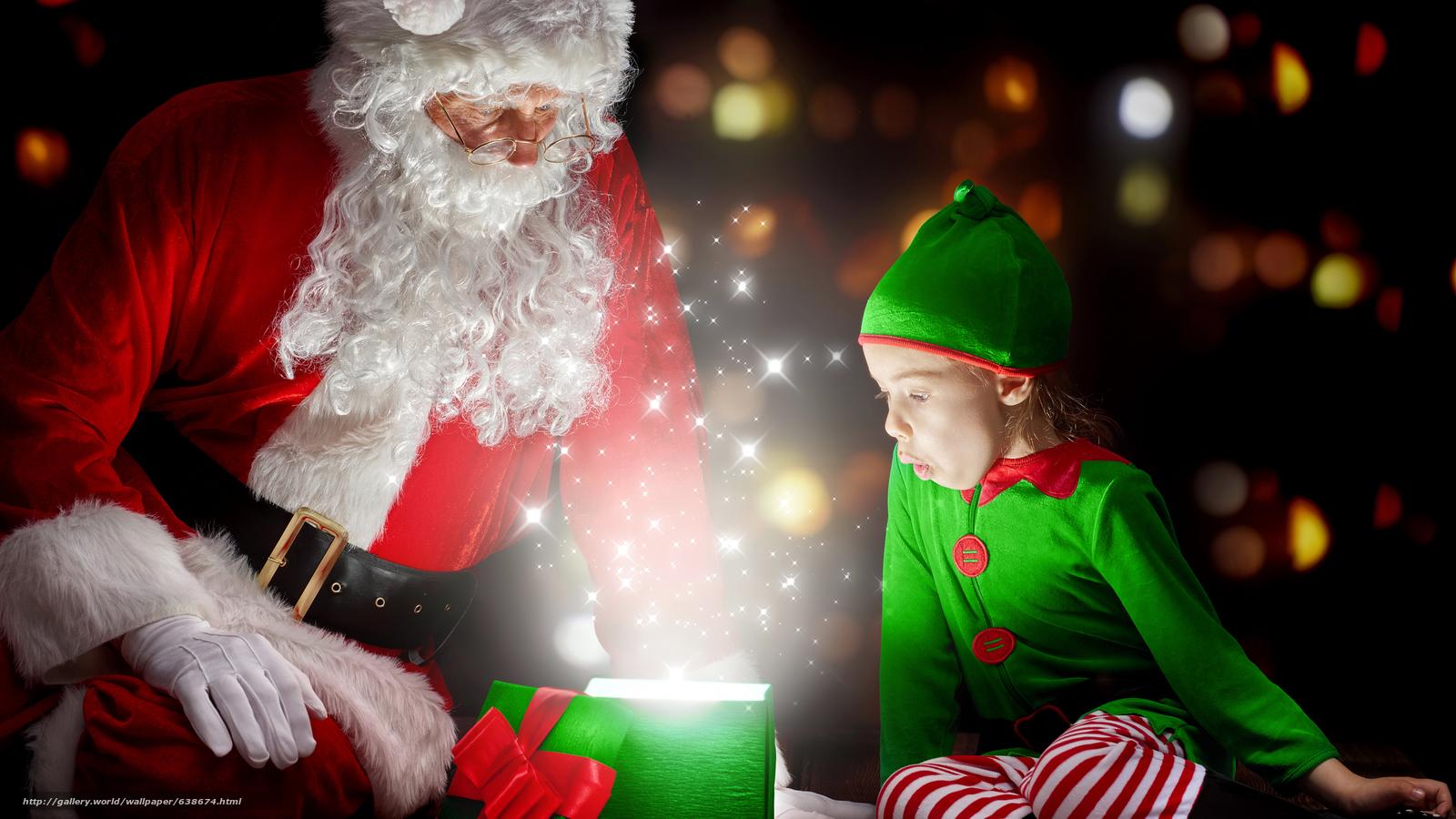 Скачать обои Дед Мороз,  Санта Клаус,  Новый год,  Рождество бесплатно для рабочего стола в разрешении 7680x4320 — картинка №638674