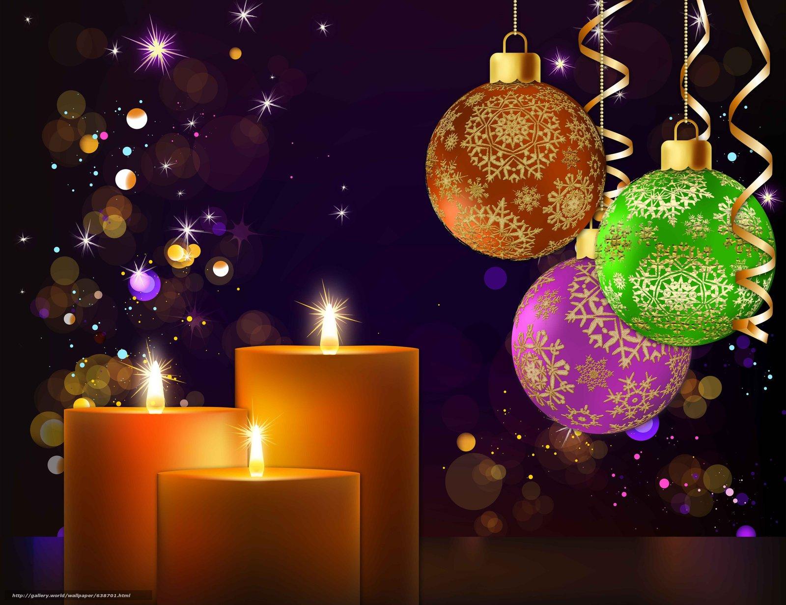 scaricare gli sfondi Sfondi di Natale,  Palloncini,  Candele Sfondi gratis per la risoluzione del desktop 6000x4616 — immagine №638701