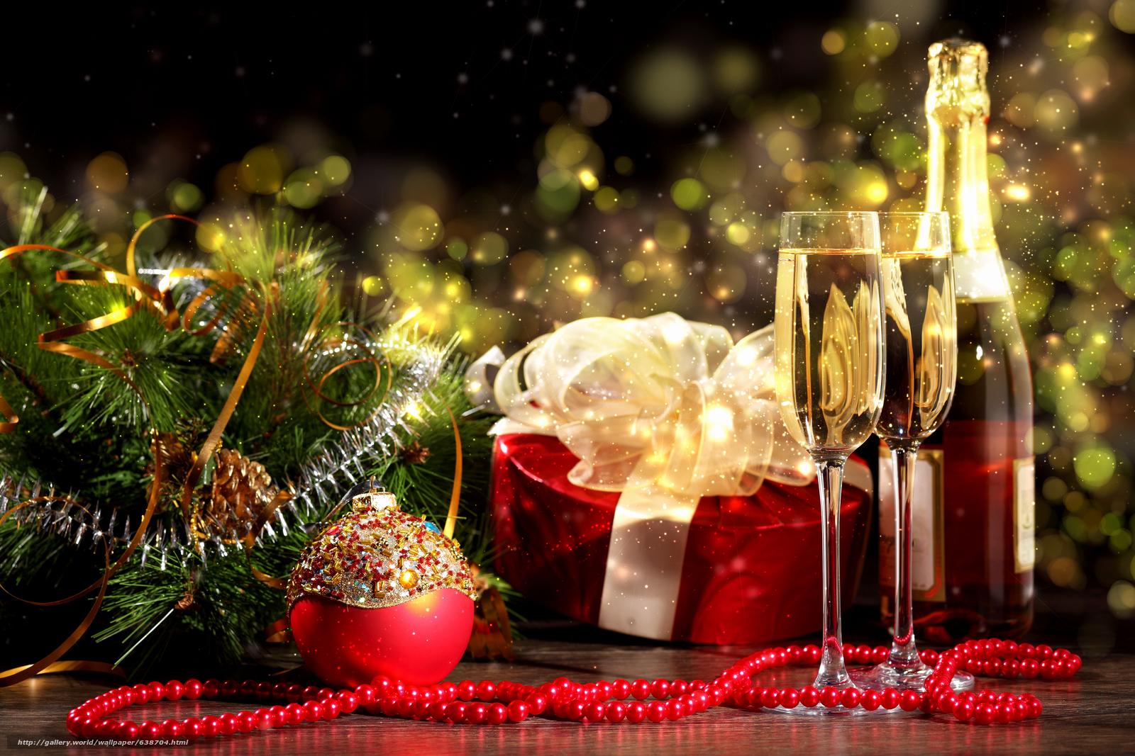 scaricare gli sfondi Capodanno,  Champagne,  Sfondi di Natale Sfondi gratis per la risoluzione del desktop 4200x2800 — immagine №638704