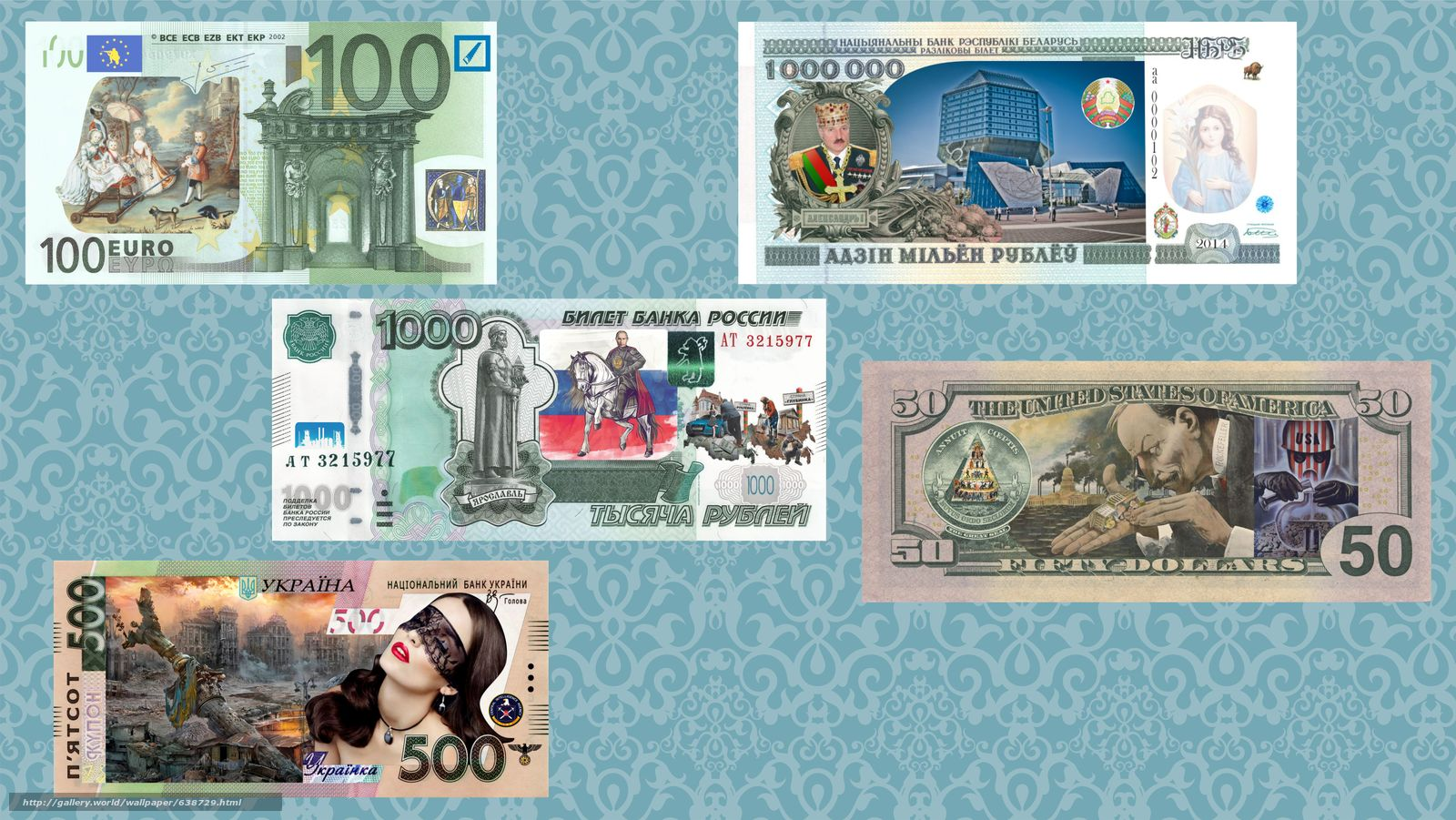 Download wallpaper euros,  Ruble,  Dollars,  money free desktop wallpaper in the resolution 8414x4736 — picture №638729